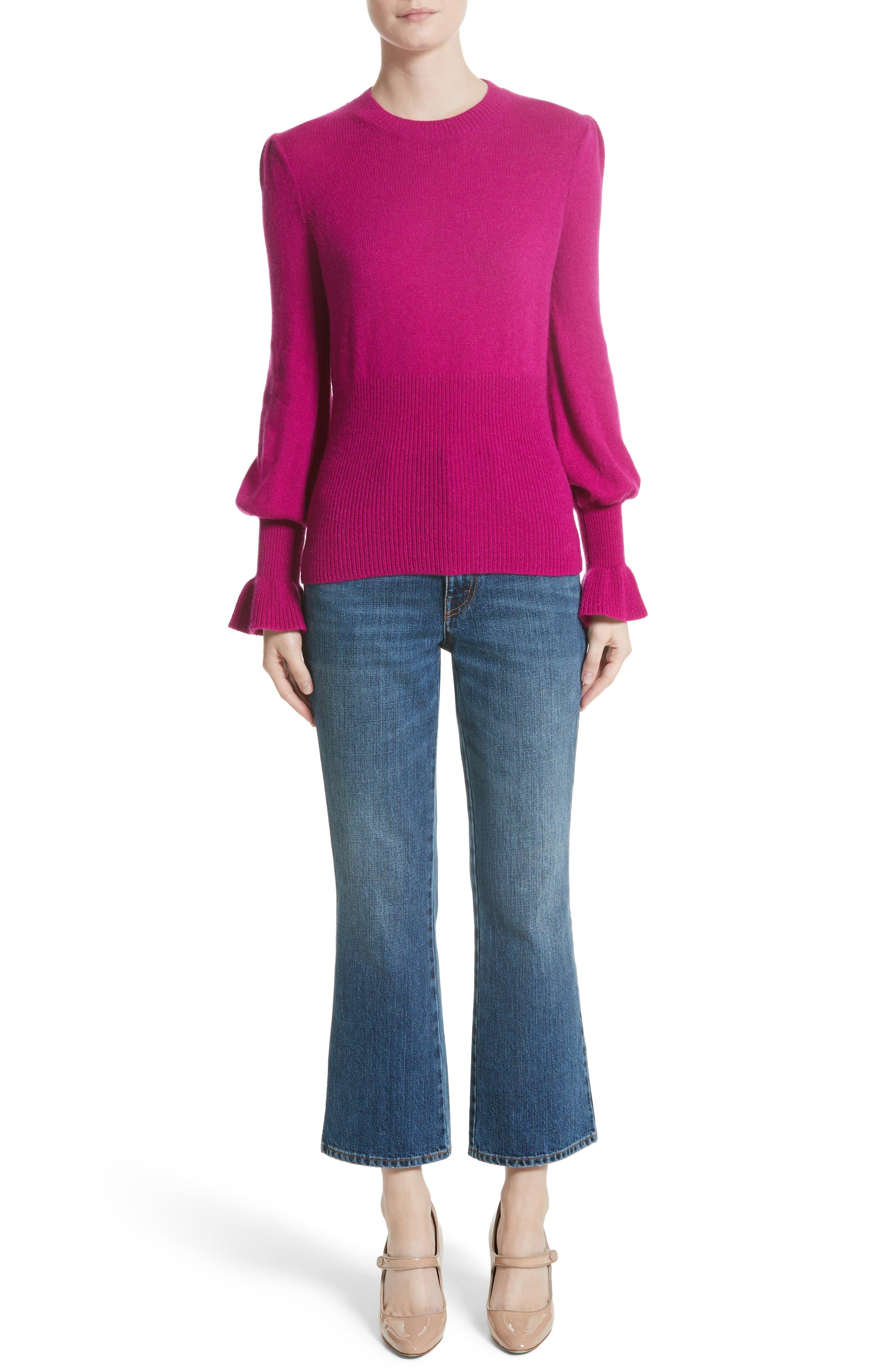 Alternate Image 7  - Co Flare Cuff Alpaca Blend Sweater