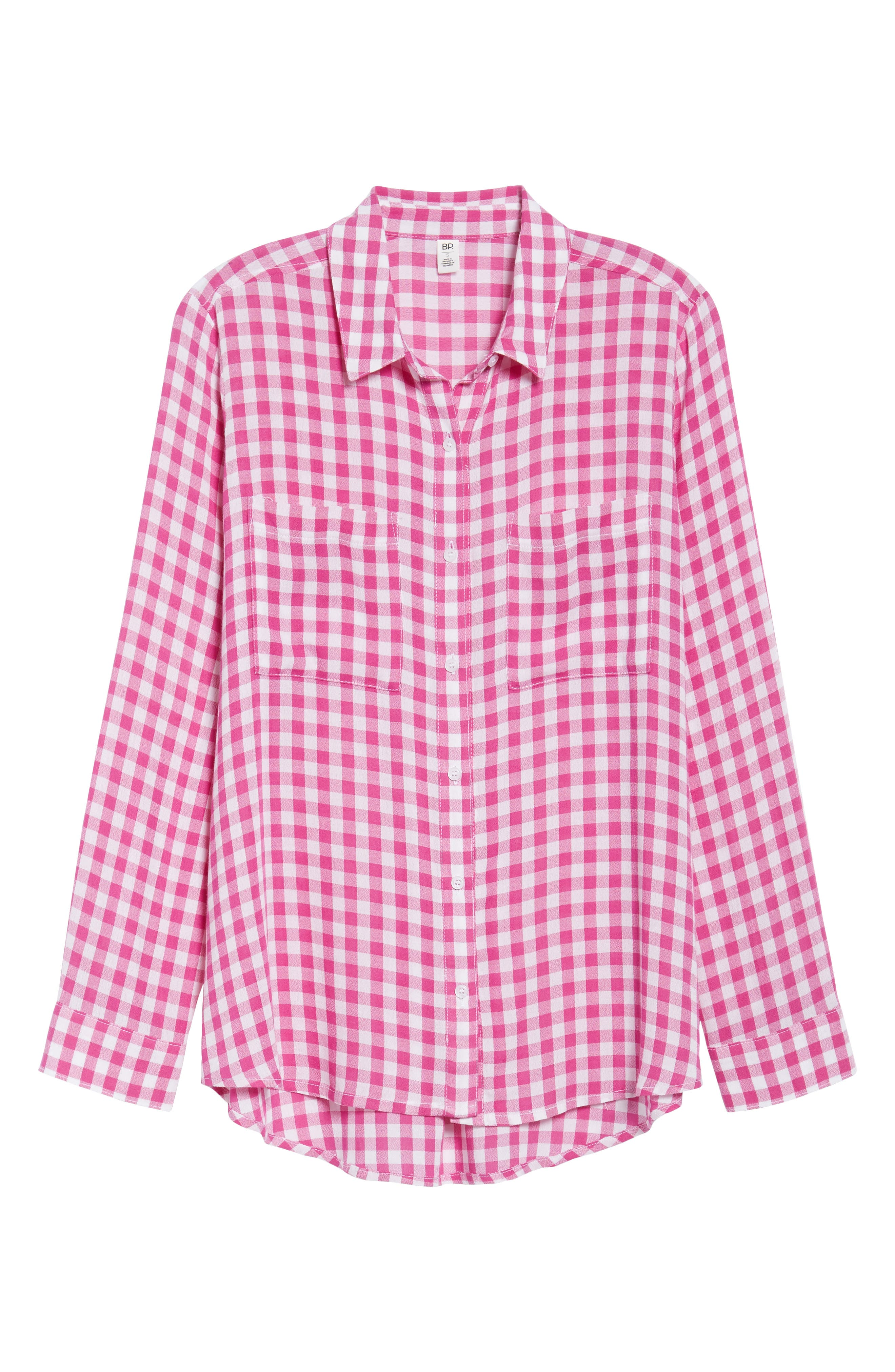 The Perfect Shirt,                             Alternate thumbnail 6, color,                             Pink Cyclamen Annette Check