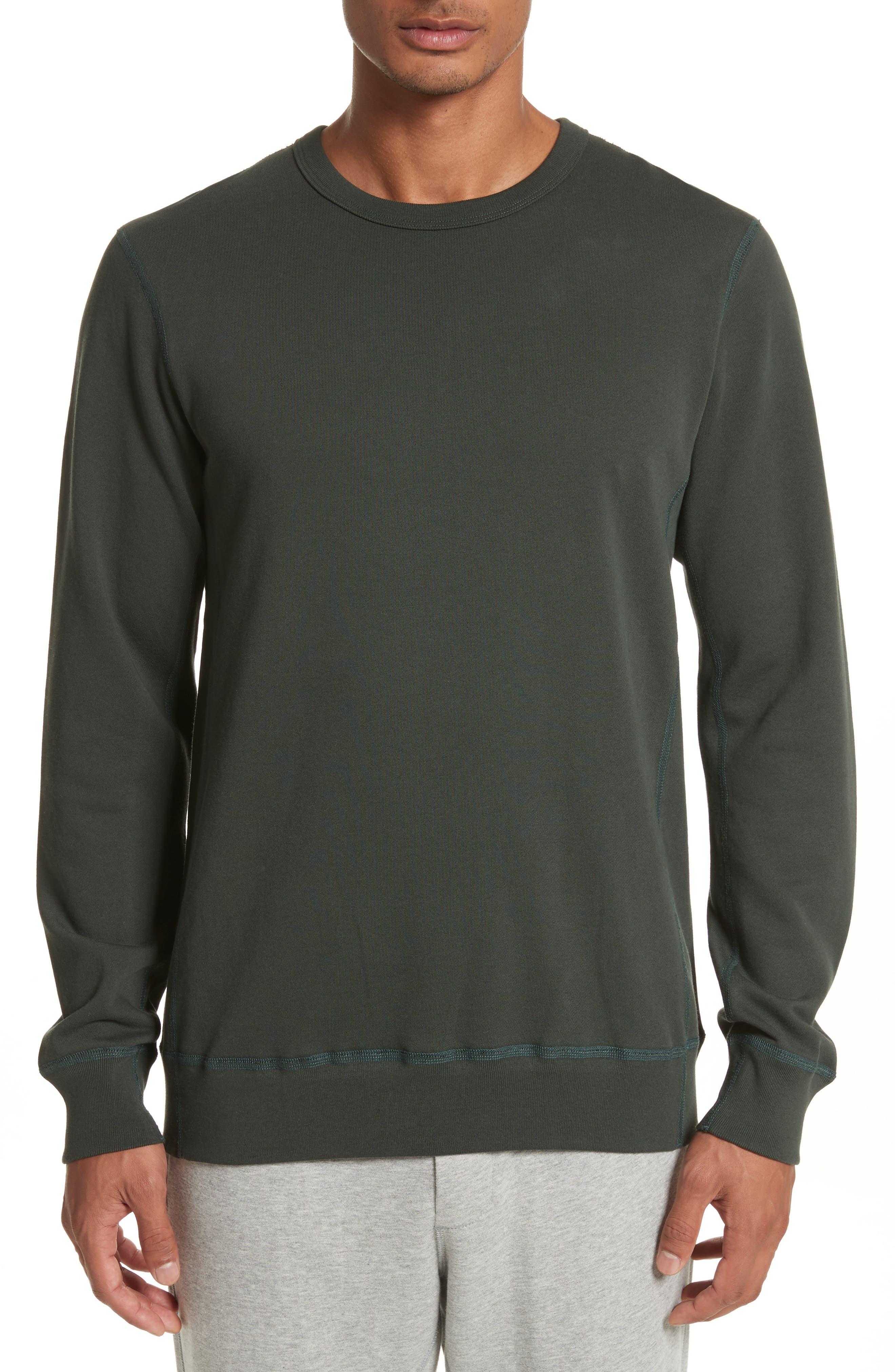 Crewneck Sweatshirt,                             Main thumbnail 1, color,                             Jungle Green
