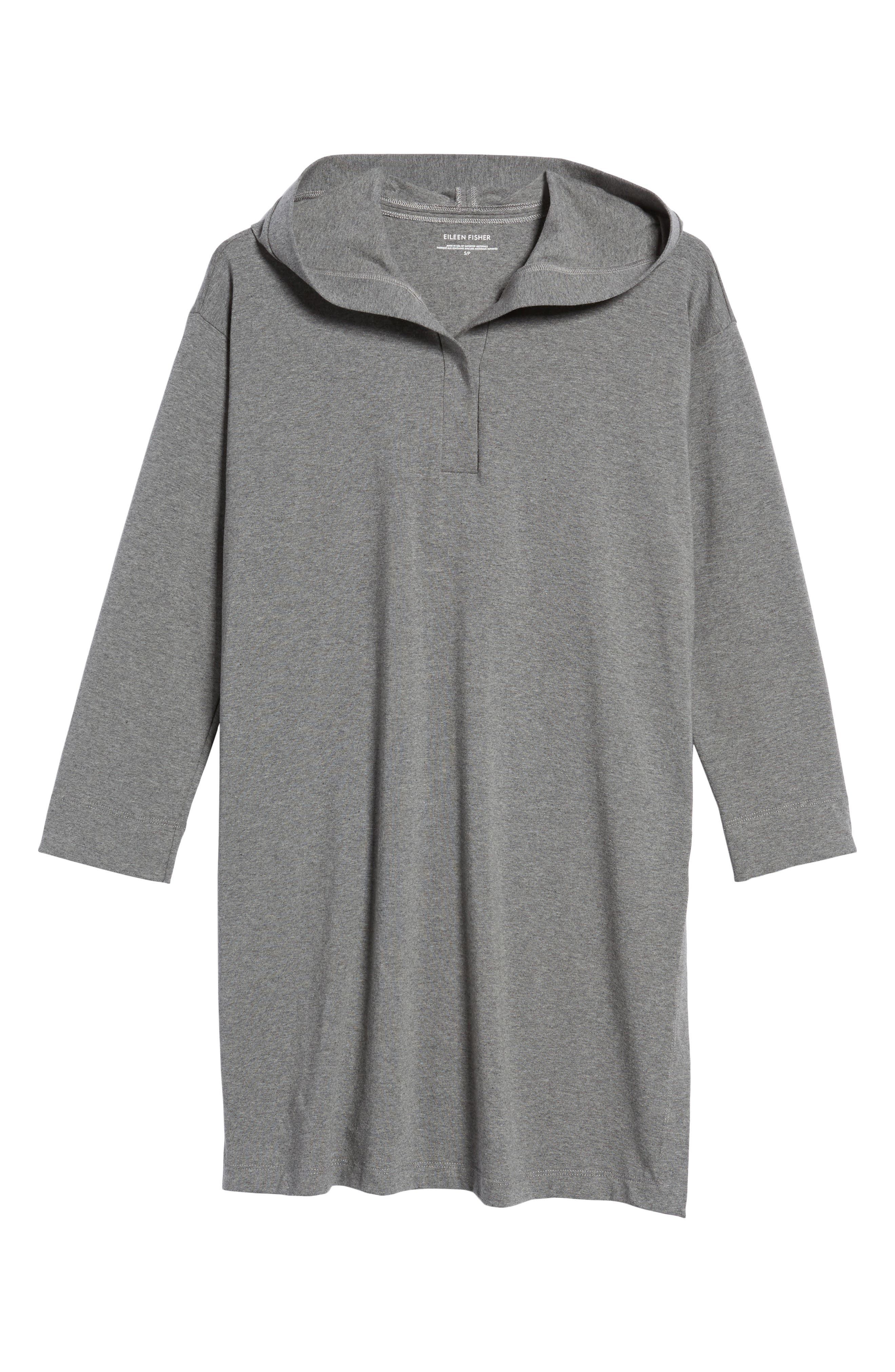 Hooded Tunic,                             Alternate thumbnail 6, color,                             Grey