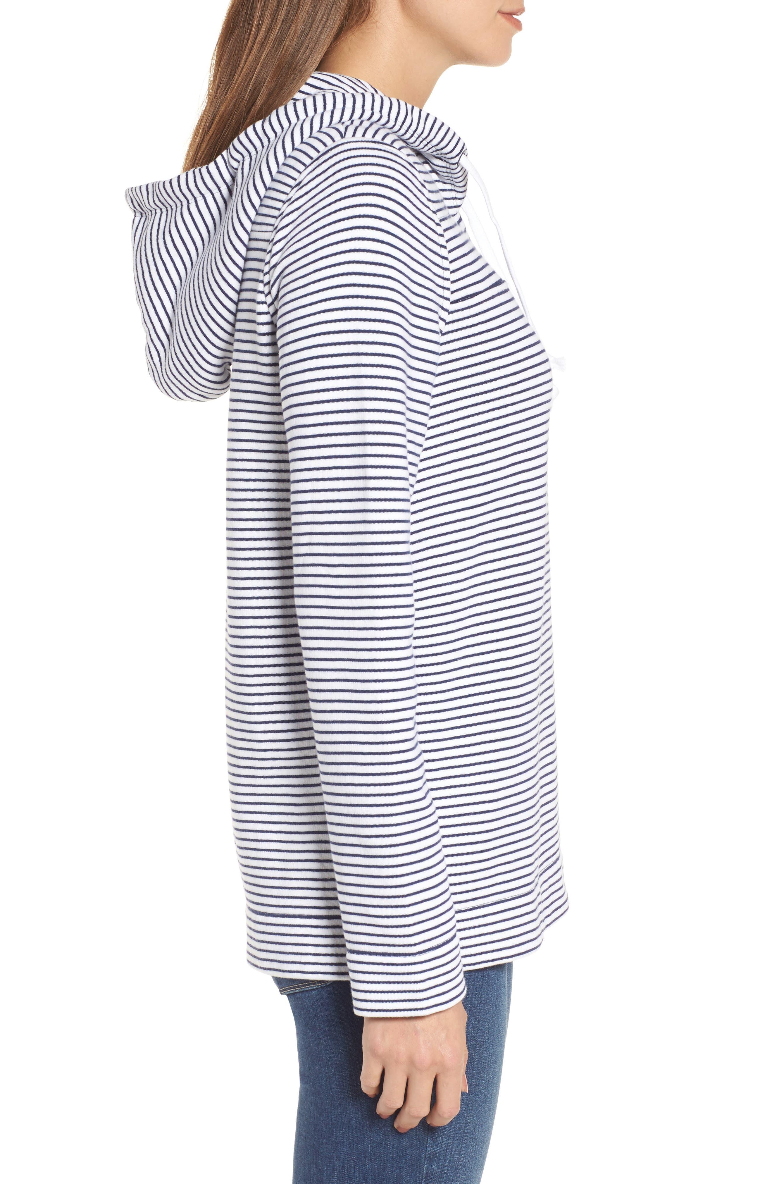 Island Stripe Shep Hoodie Shirt,                             Alternate thumbnail 3, color,                             Deep Bay