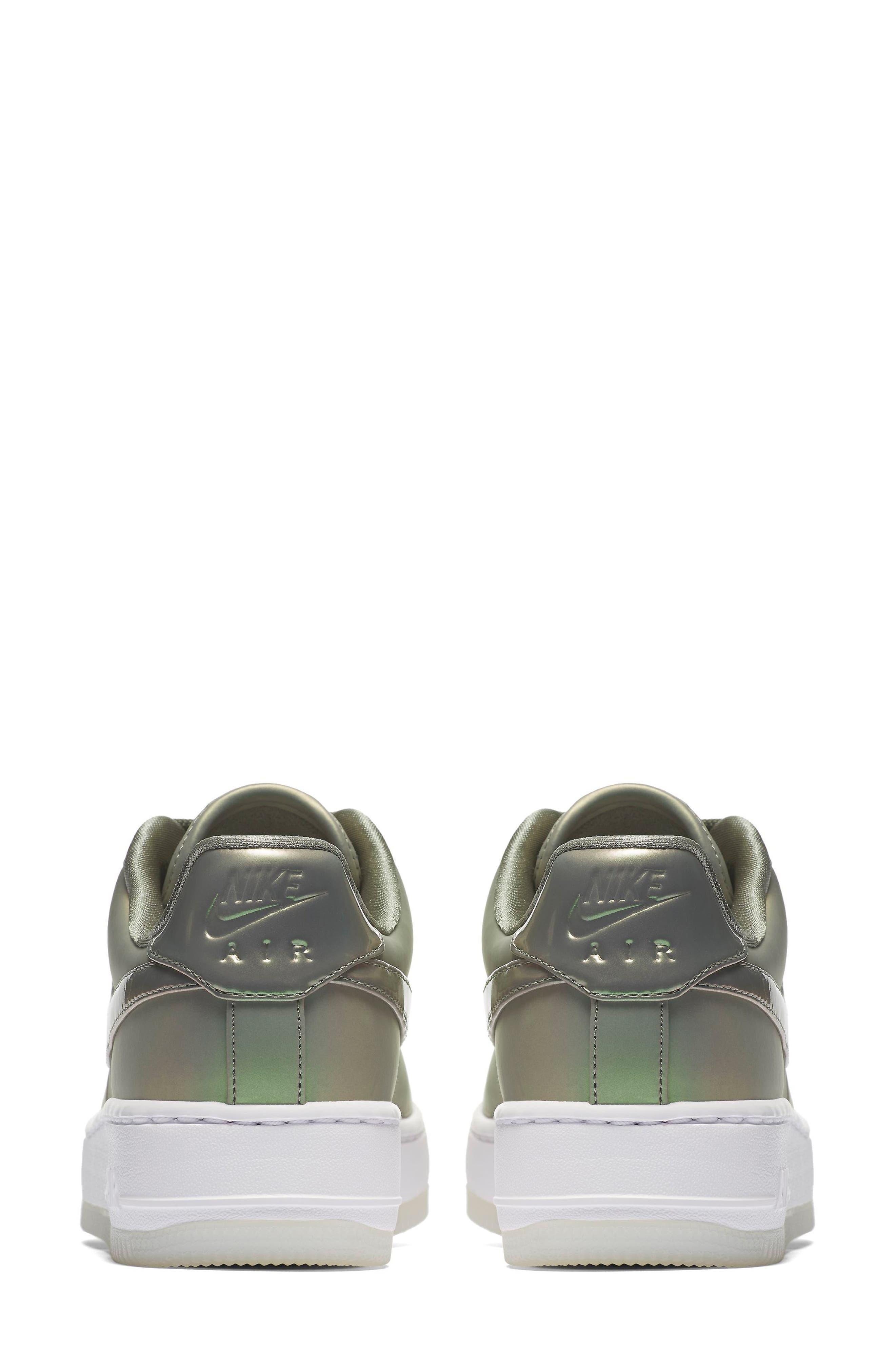 Air Force 1 Upstep Premium LX Shoe,                             Alternate thumbnail 2, color,                             Dark Stucco/ Stucco/ White
