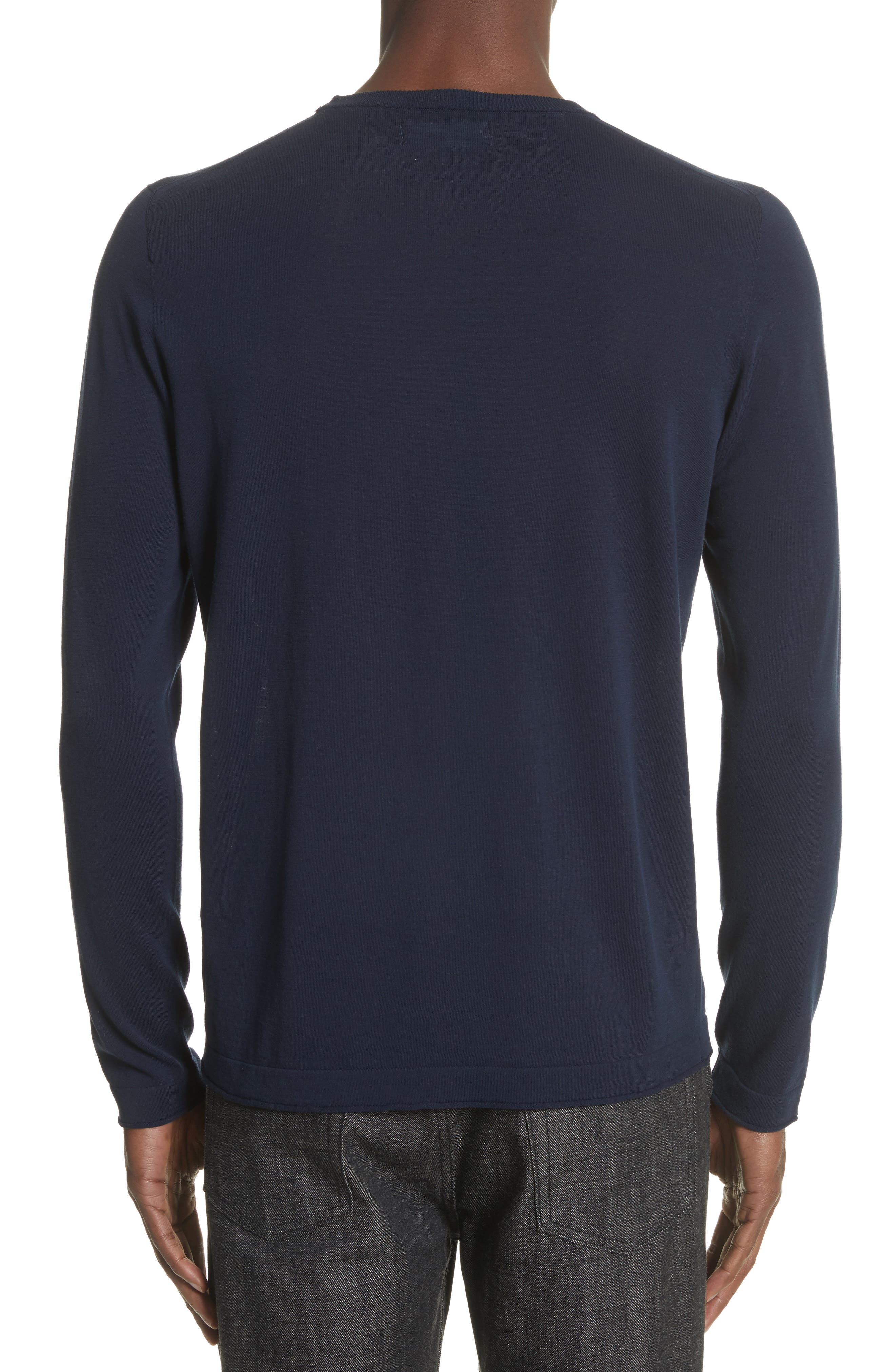 Embroidered Crest Sweater,                             Alternate thumbnail 2, color,                             Blue