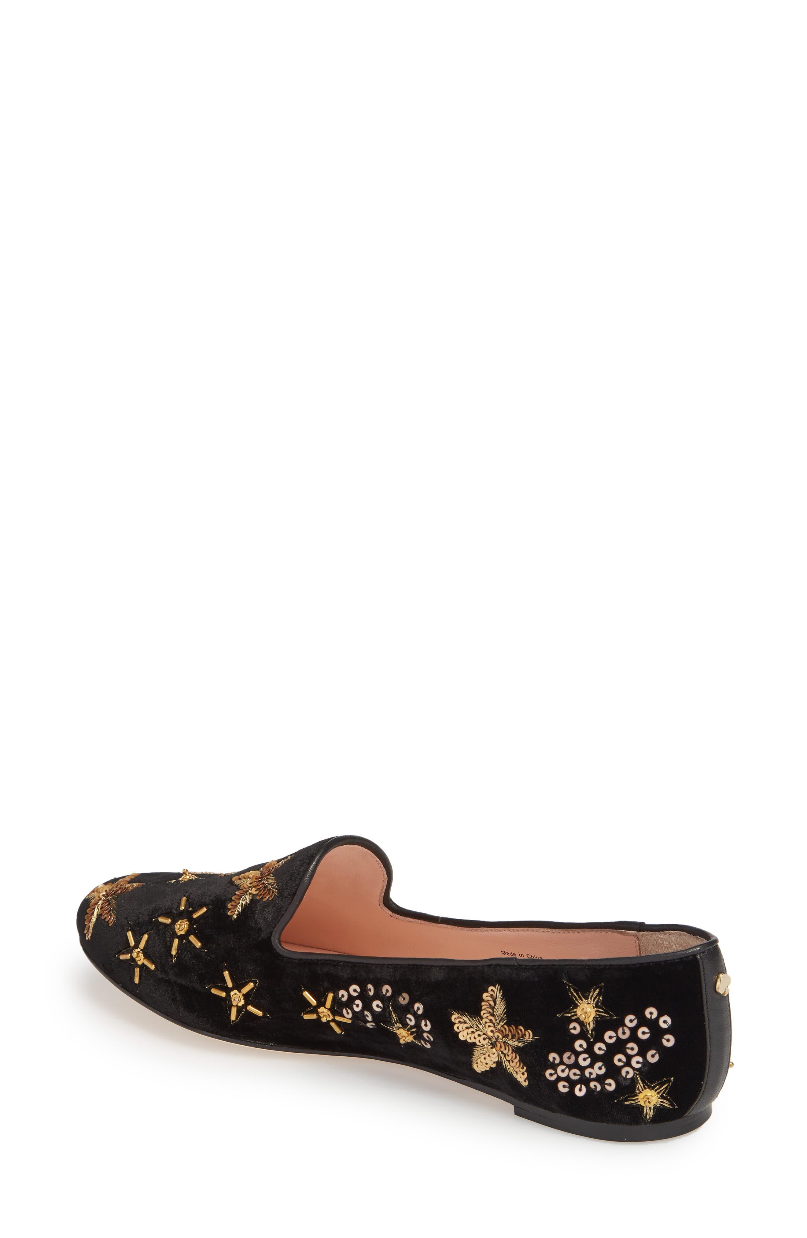 stelli embellished loafer,                             Alternate thumbnail 2, color,                             Black Velvet