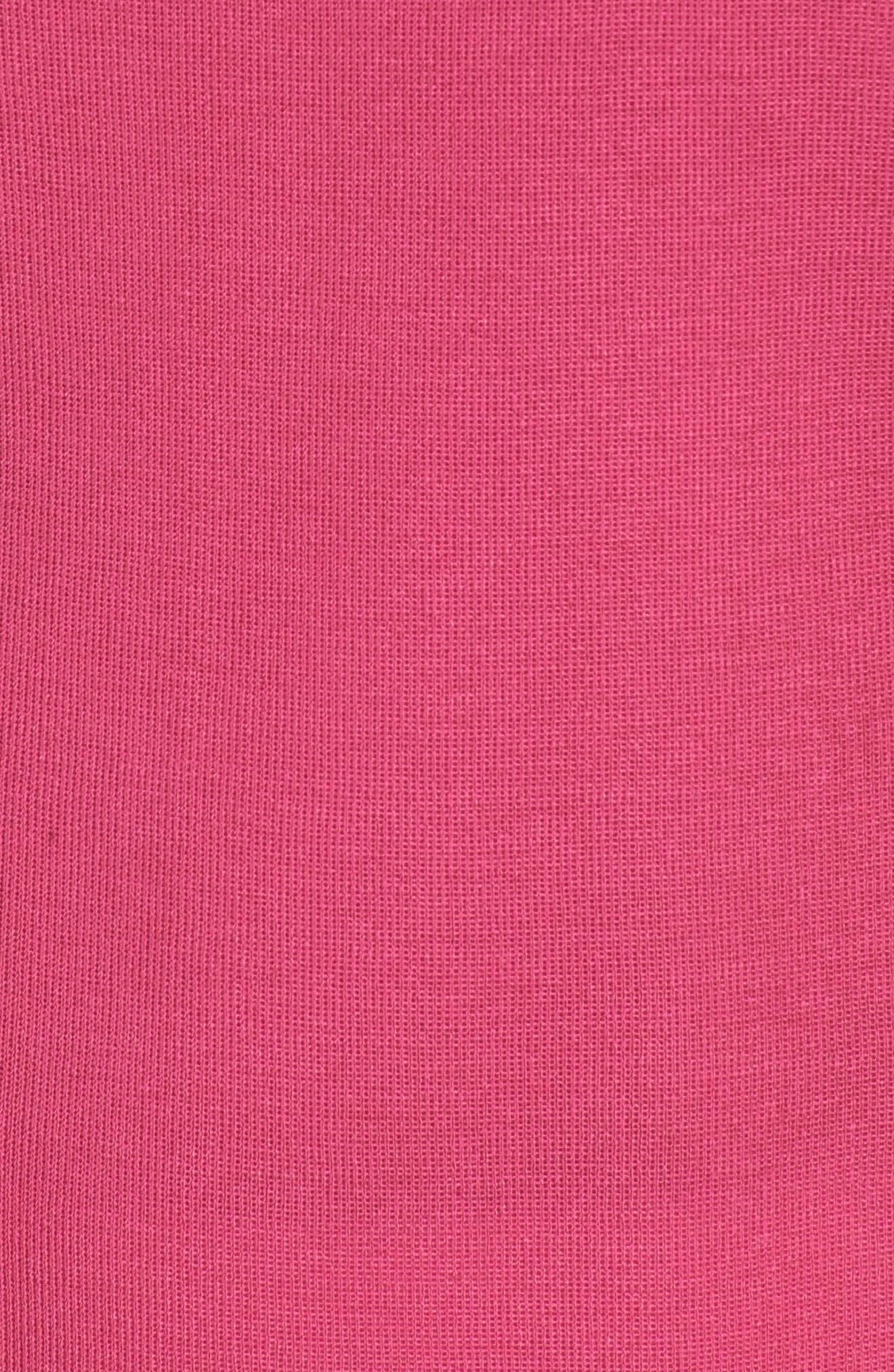 Knit Tank,                             Alternate thumbnail 5, color,                             Dahlia/ Black