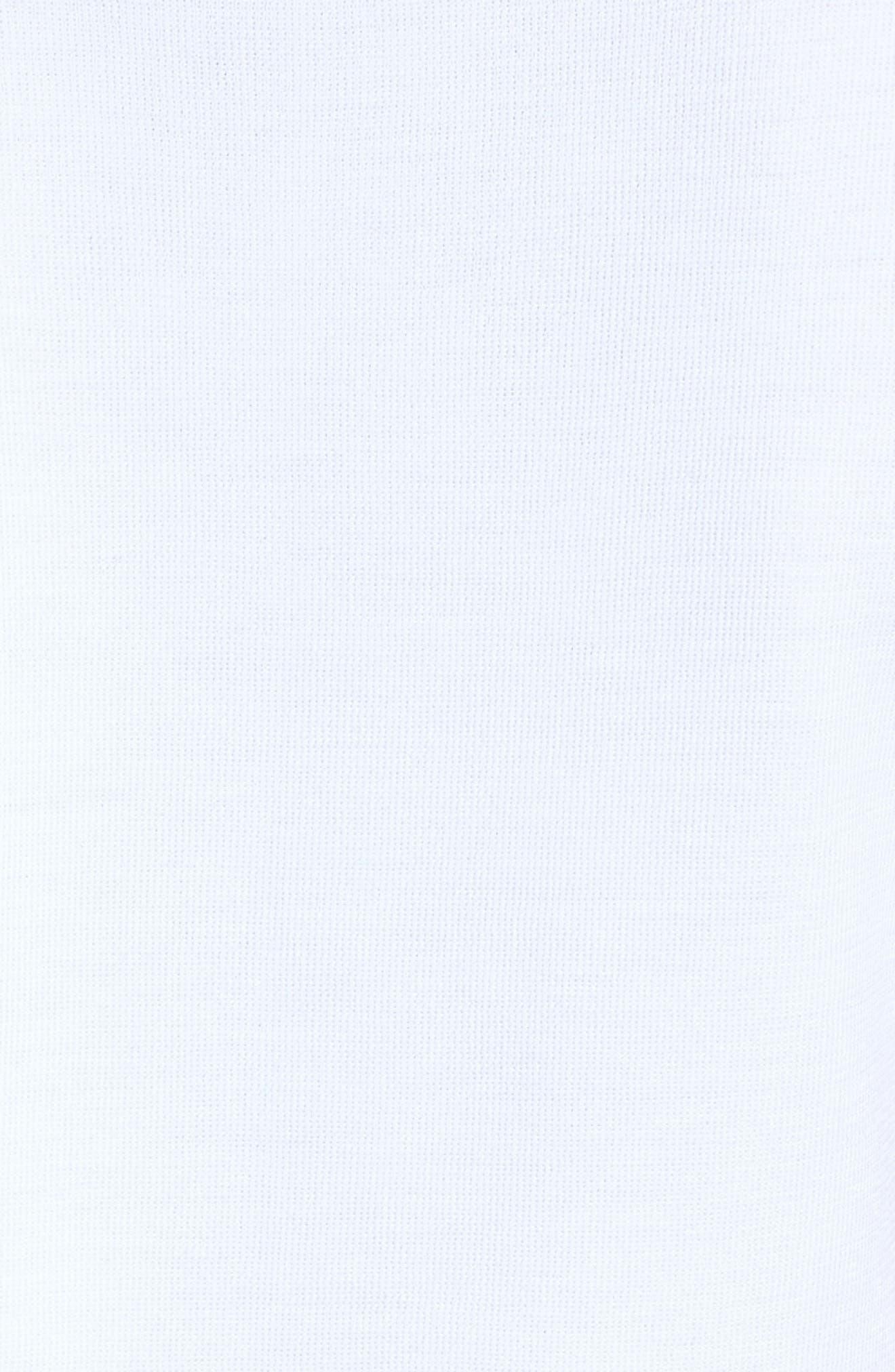 Scoop Neck Knit Tank,                             Alternate thumbnail 5, color,                             White/ Black/ Dahlia