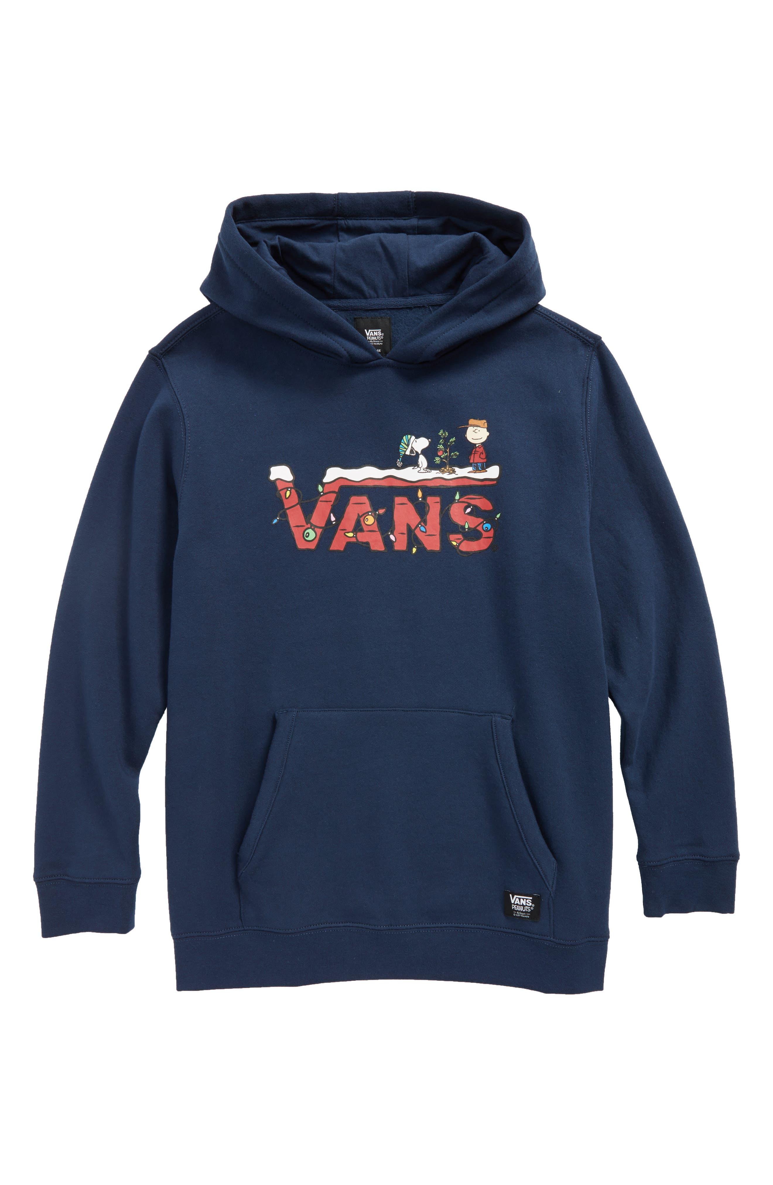 vans x peanuts holiday hoodie big boys