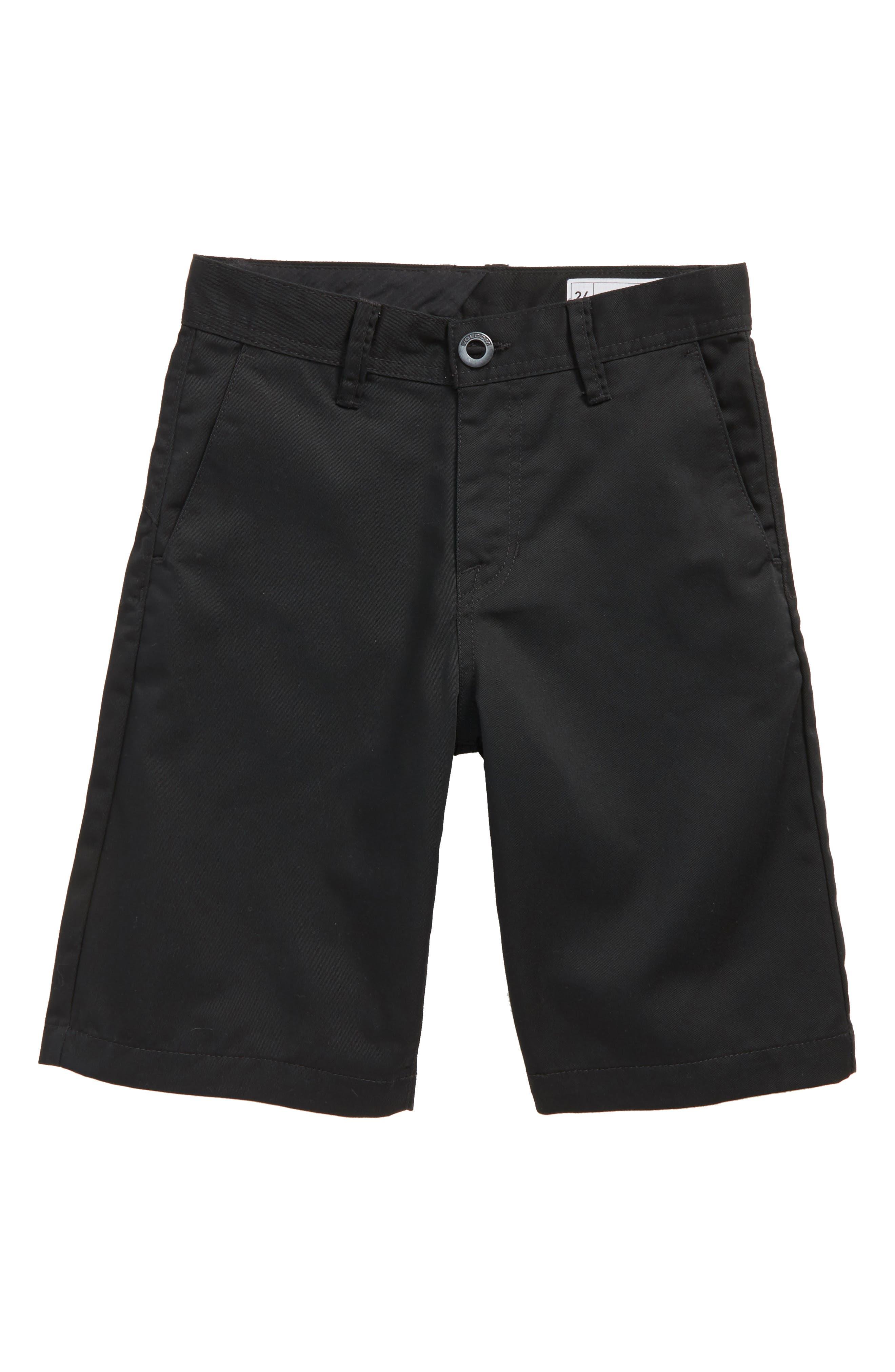 Chino Shorts,                         Main,                         color, Black