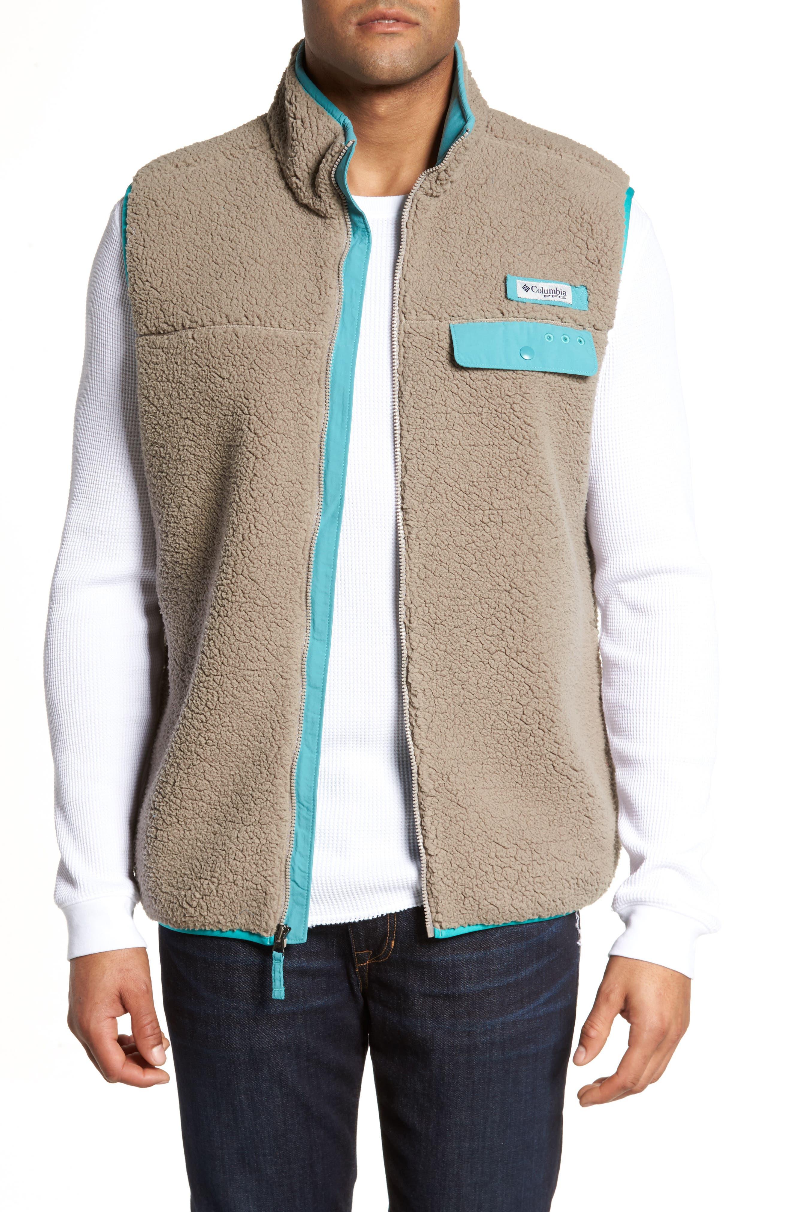 Sportswear Harborside Heavyweight Fleece Vest,                         Main,                         color, Kettle/ Teal