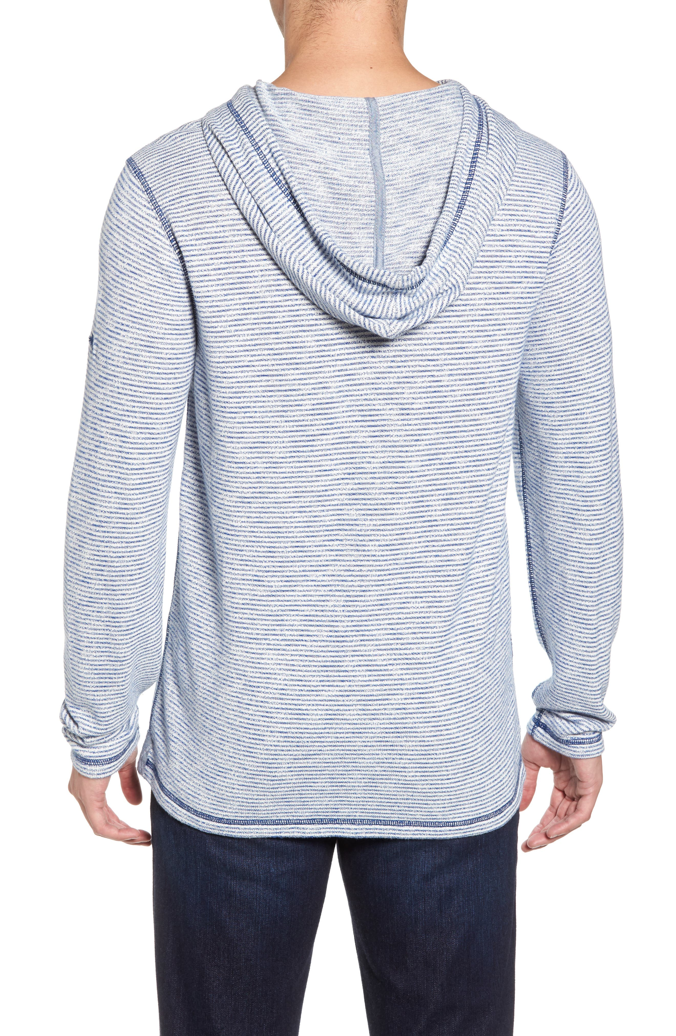 Bayfront Stripe Hooded Pullover,                             Alternate thumbnail 2, color,                             Galaxy Blue