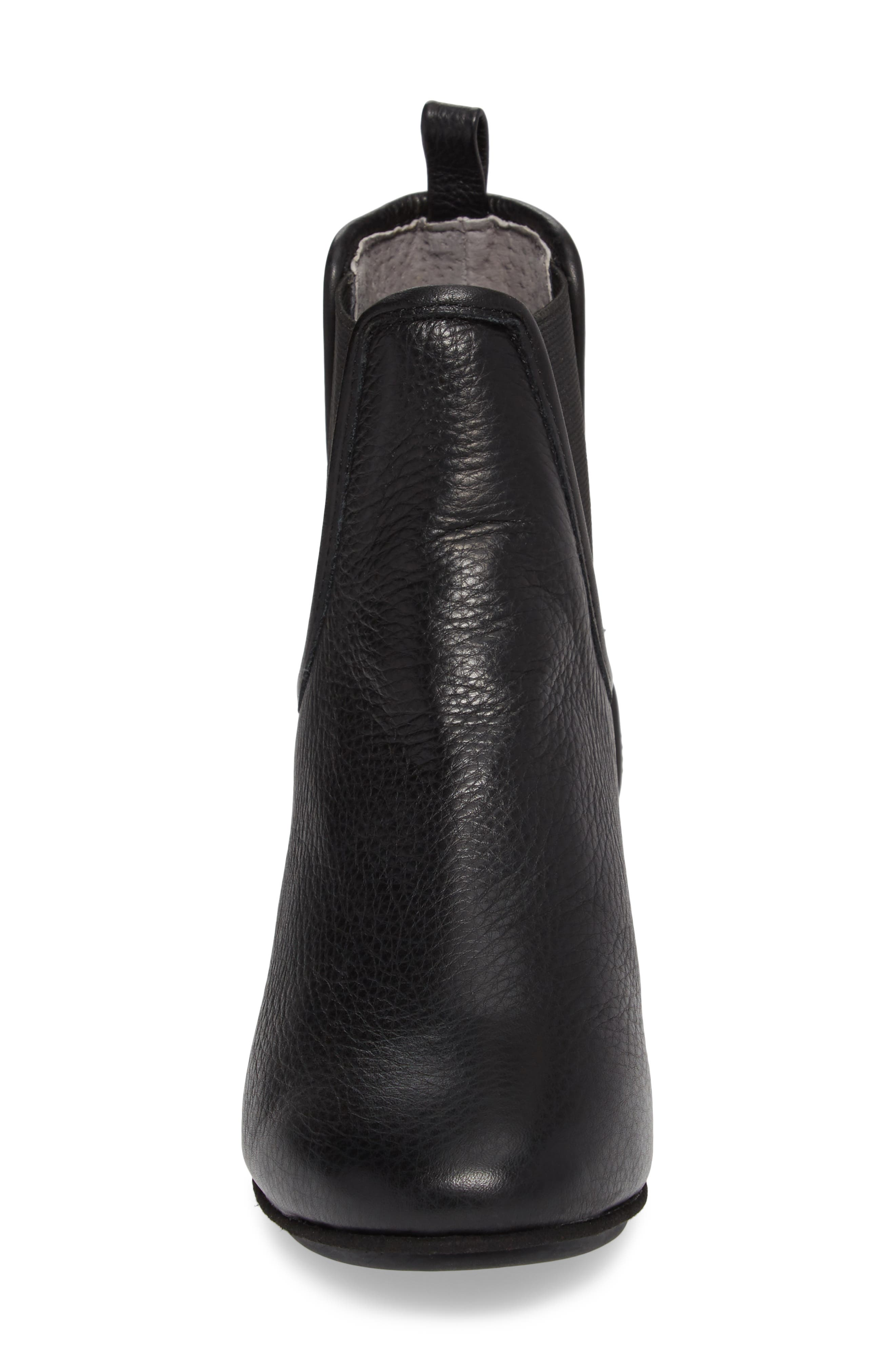 Penelope Chelsea Boot,                             Alternate thumbnail 4, color,                             Black Leather