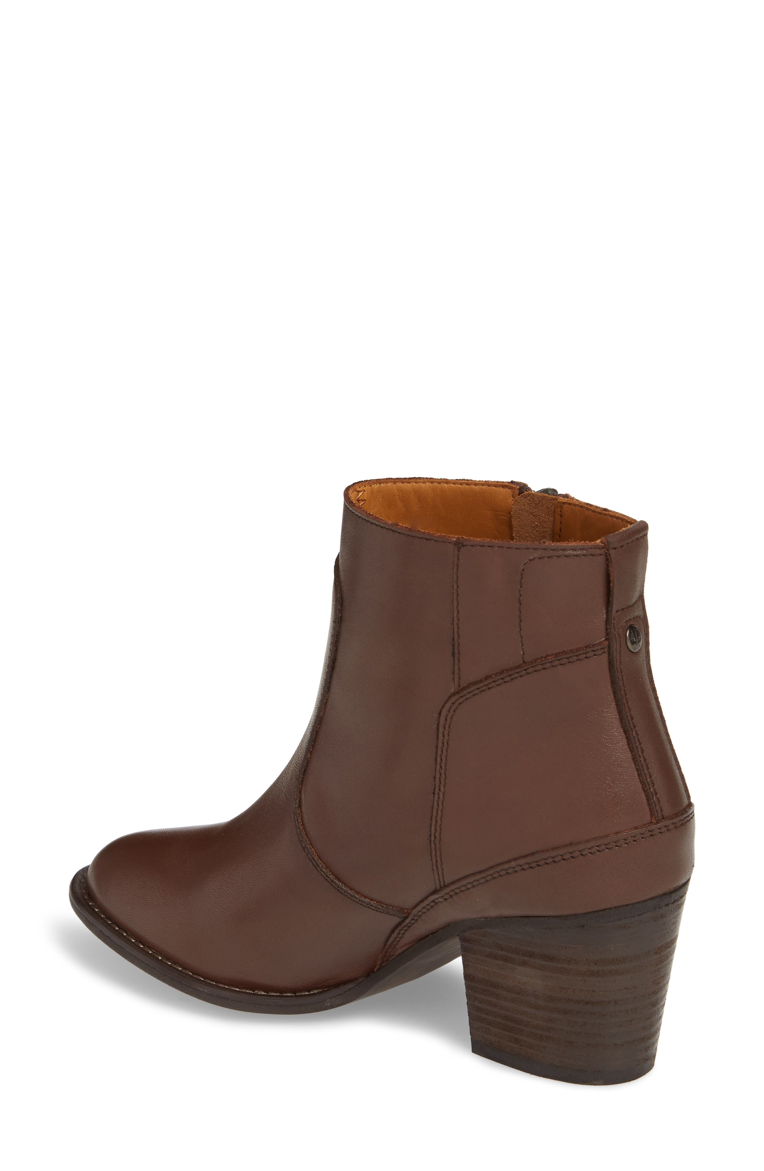 Refined Water Resistant Zip Bootie,                             Alternate thumbnail 2, color,                             Bitter Chocolate Leather