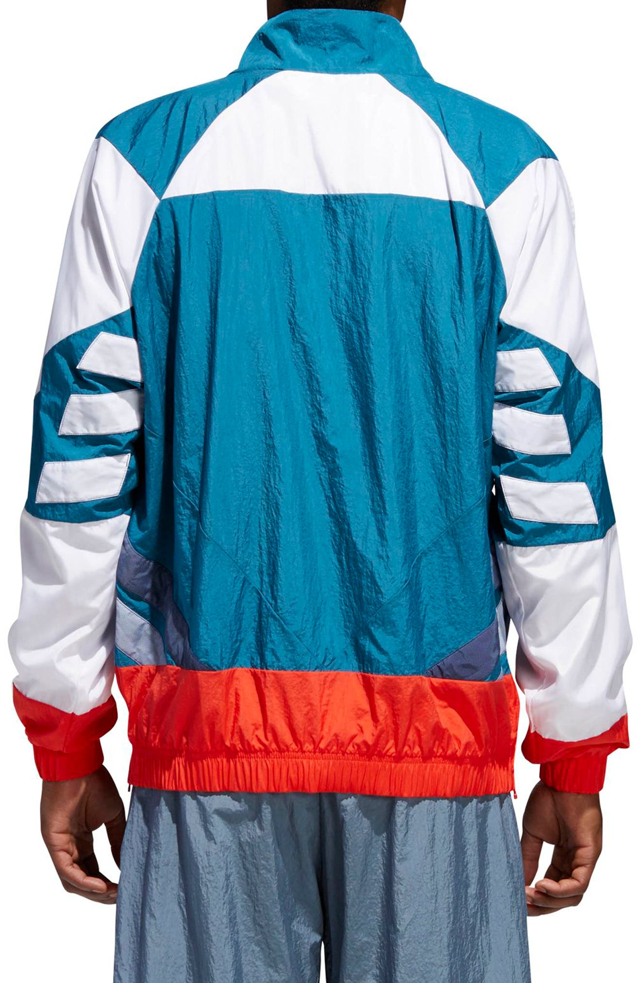 V Stripes Windbreaker,                             Alternate thumbnail 2, color,                             Hii Res Red