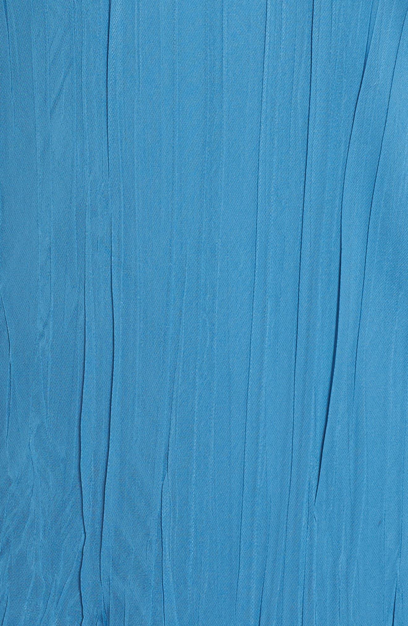 Dress Tiered Chiffon & Charmeuse Dress,                             Alternate thumbnail 5, color,                             Blue Dusk Night Ombre
