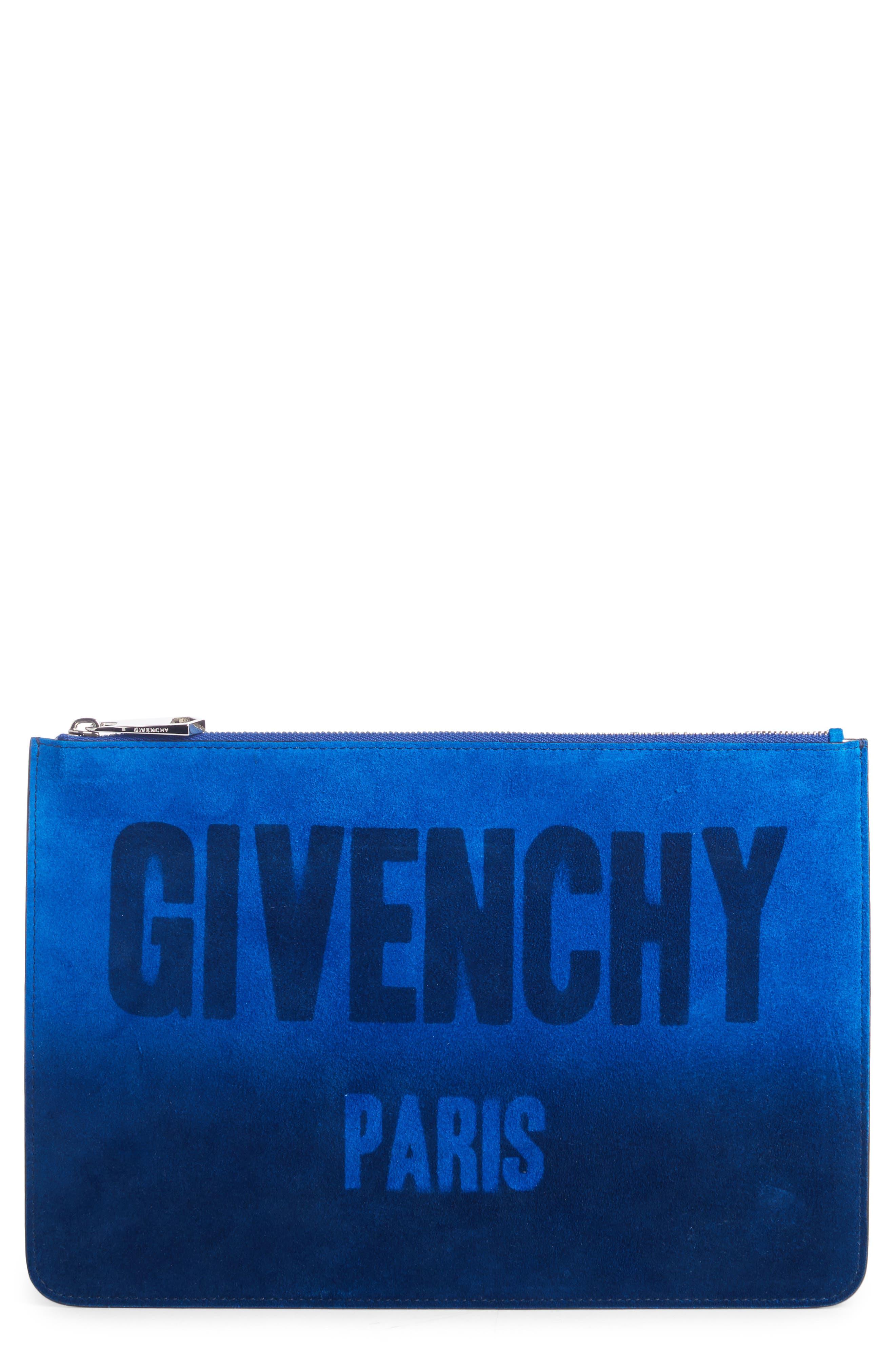 Main Image - Givenchy Iconic Logo Dégradé Suede Pouch