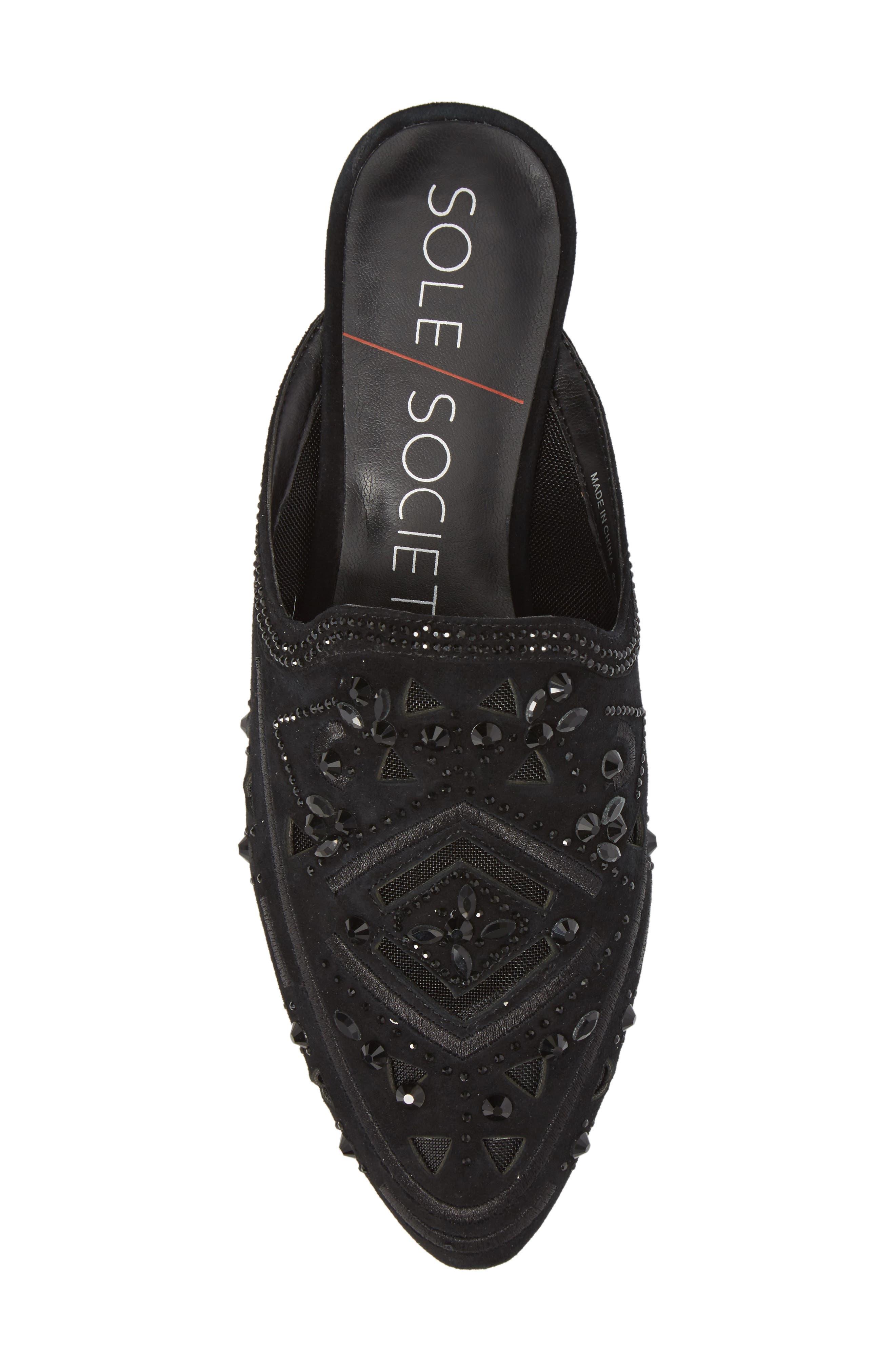 Alternate Image 5  - Sole Society Peace Embellished Loafer Mule (Women)