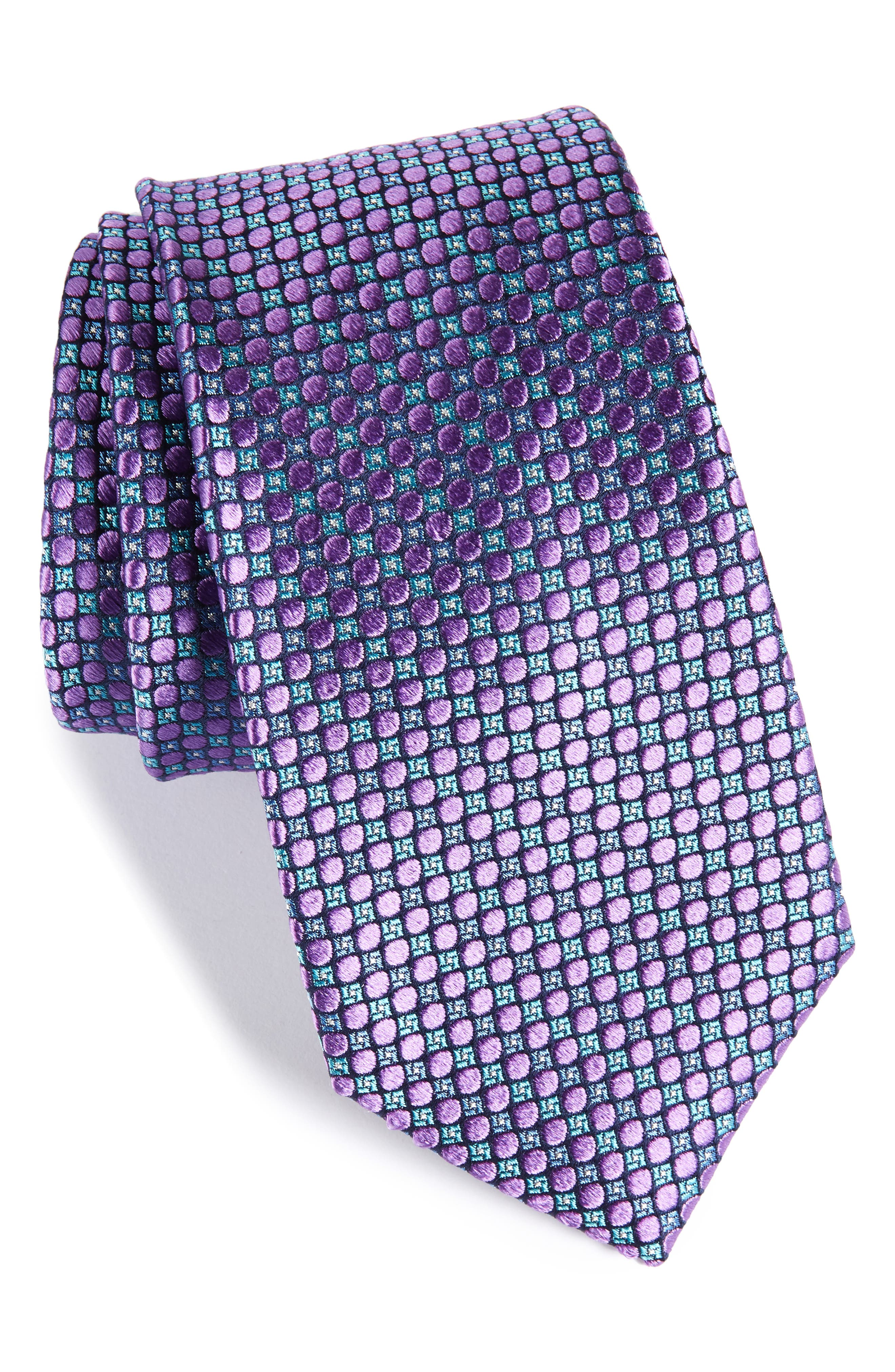 Main Image - Nordstrom Men's Shop Carter Dot Silk Tie (X-Long)