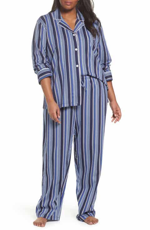Lauren Ralph Lauren Stripe Pajamas (Plus Size)