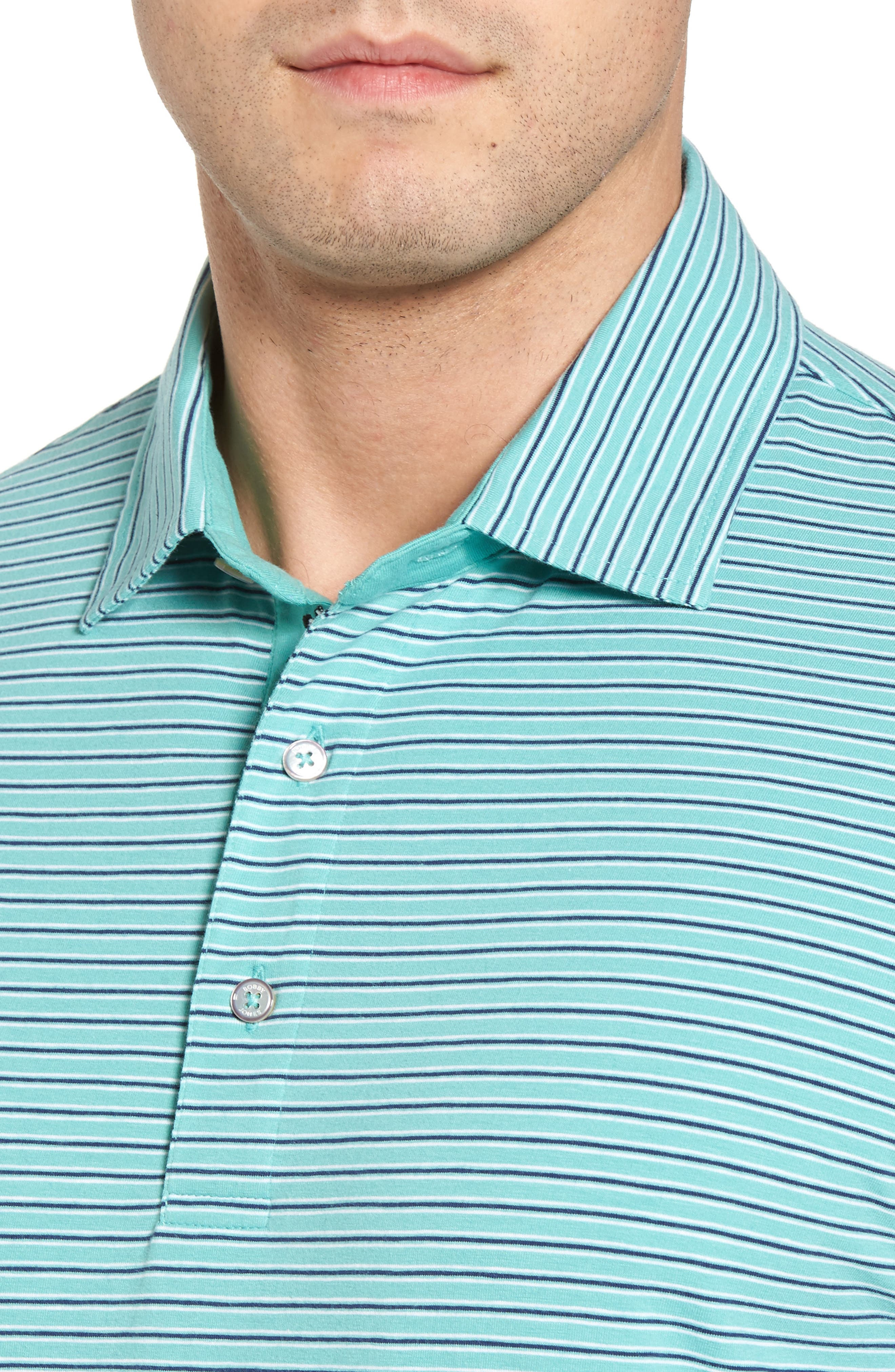 Crest Stripe Polo,                             Alternate thumbnail 4, color,                             Wintergreen