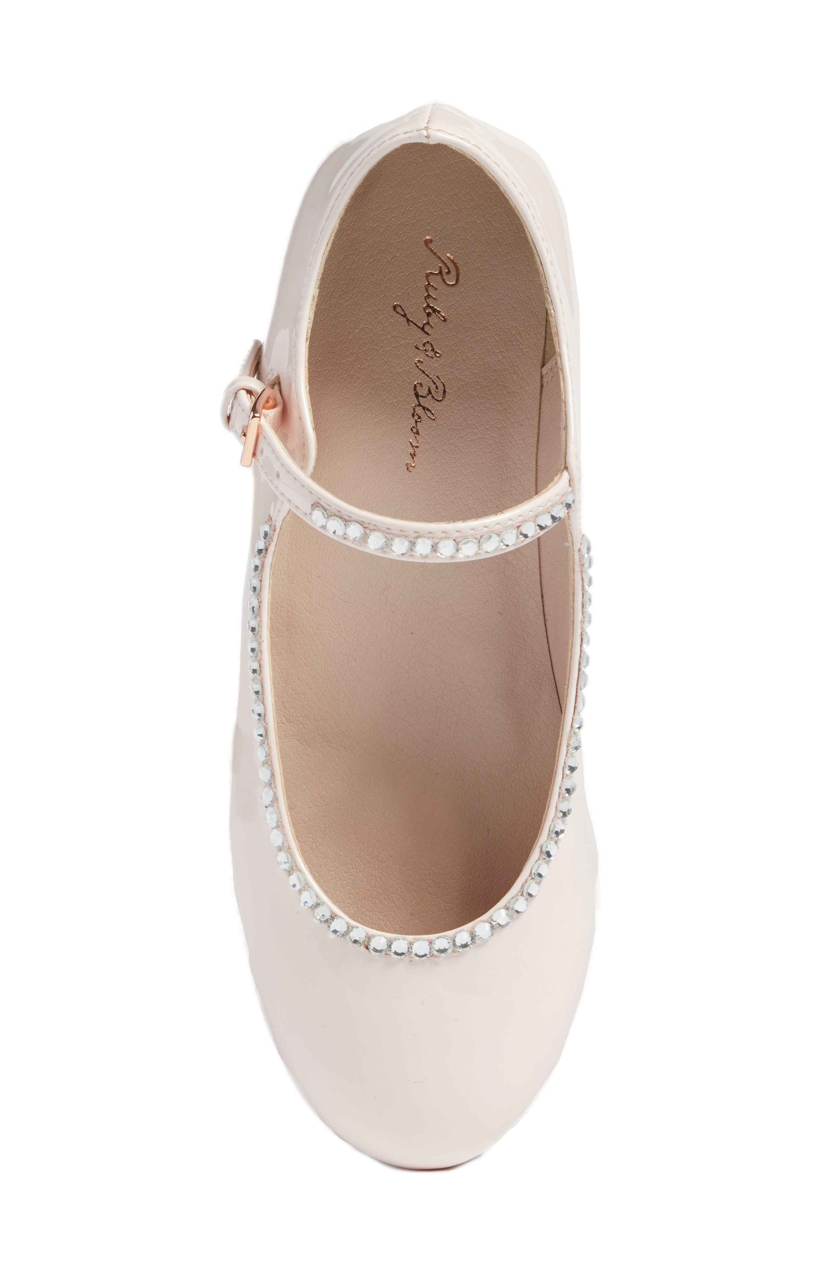 Harlow Embellished Mary Jane,                             Alternate thumbnail 5, color,                             Pale Pink Faux Patent
