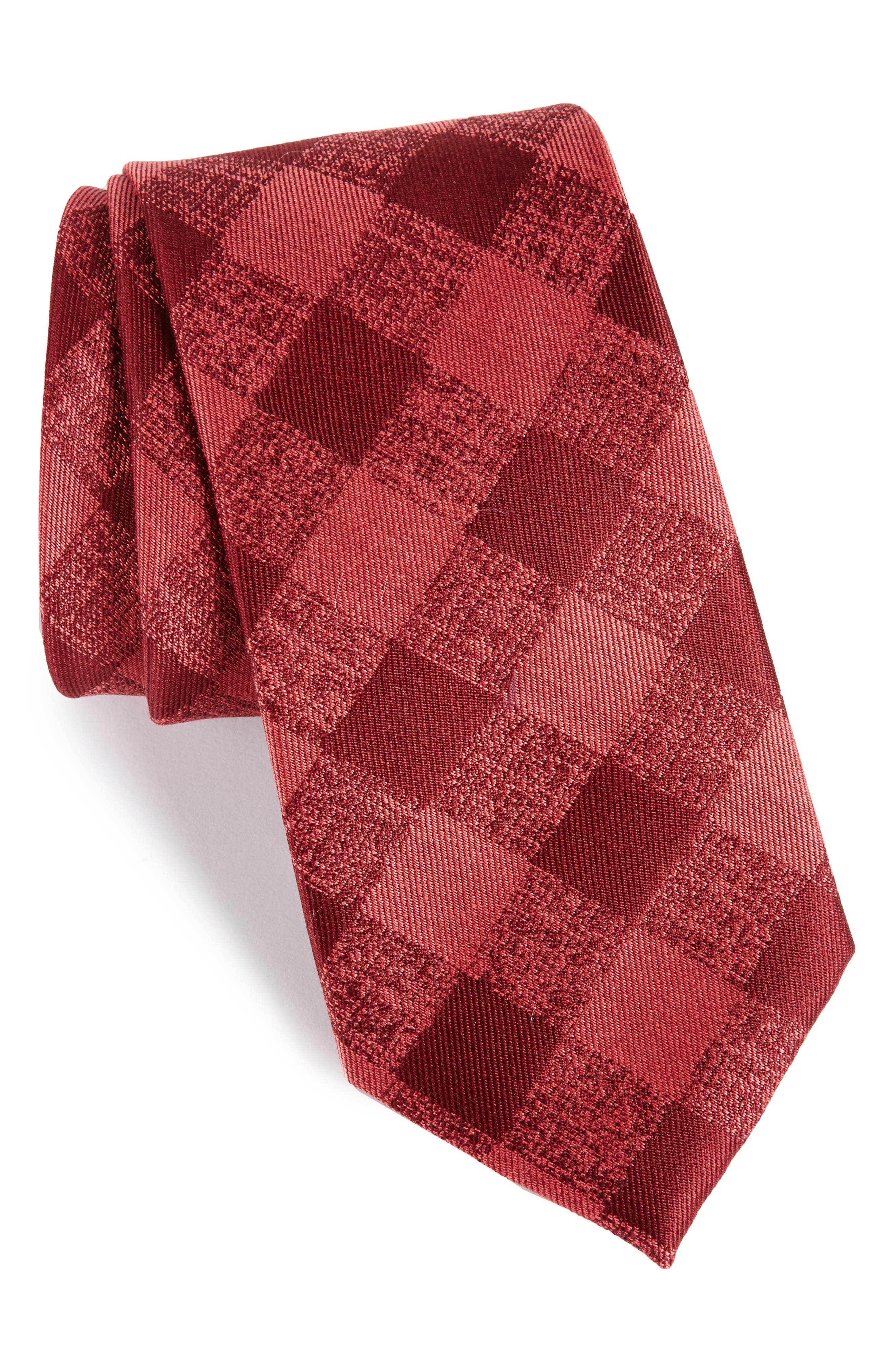 Calibrate Tigrane Check Silk & Cotton Tie