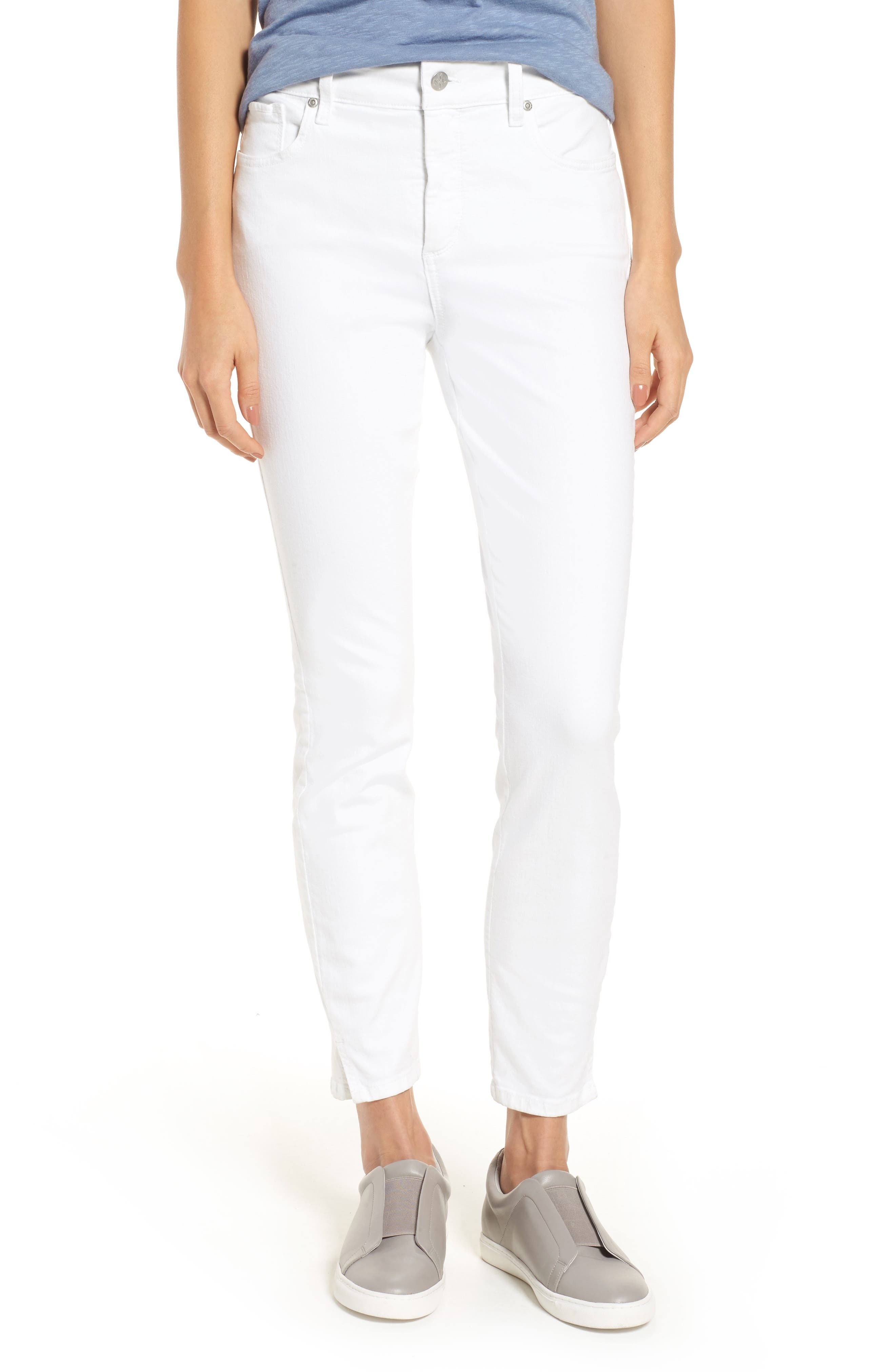 NYDJ Ami Stretch Ankle Skinny white Jeans (Regular & Petite)