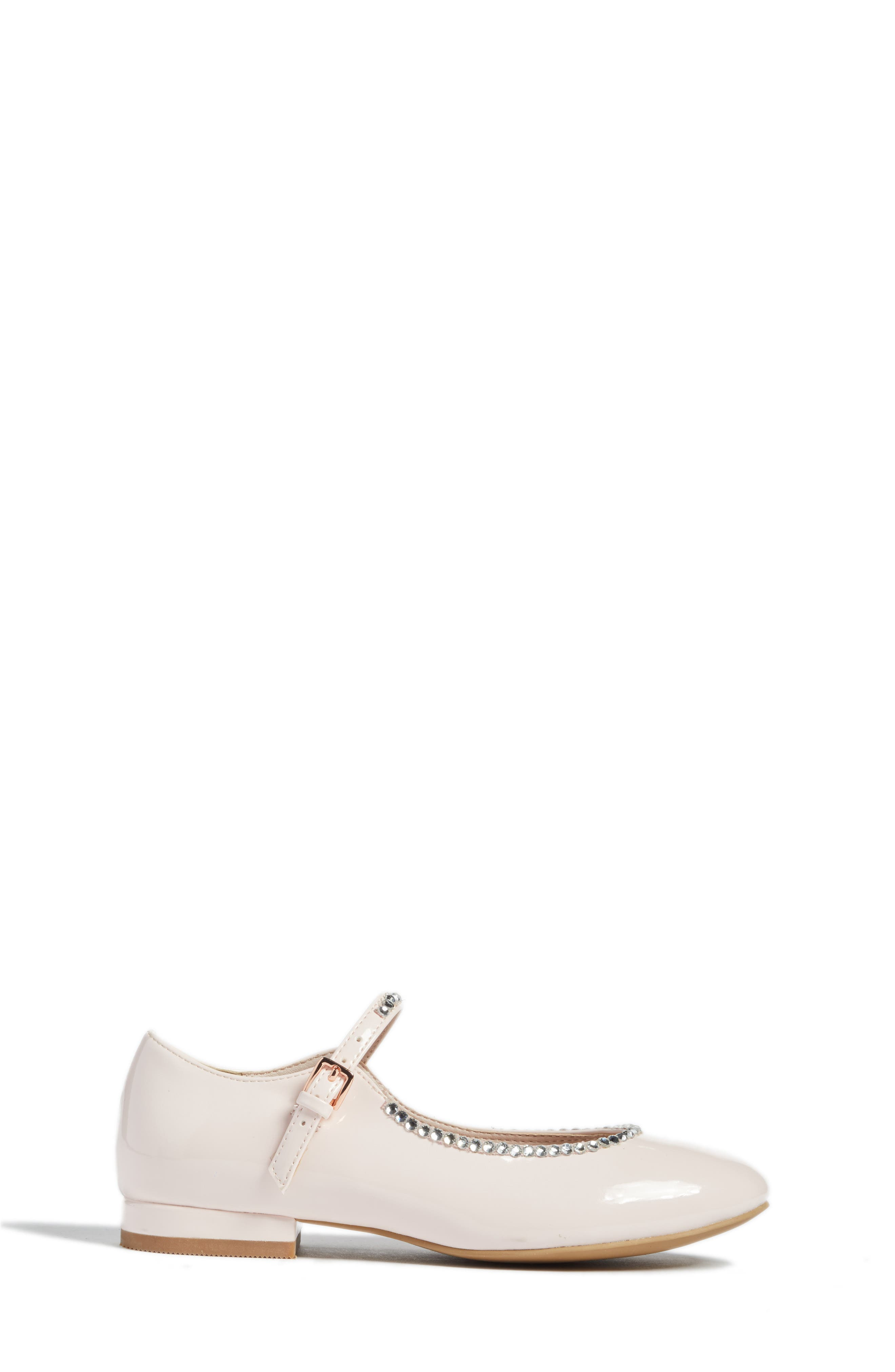 Harlow Embellished Mary Jane,                             Alternate thumbnail 3, color,                             Pale Pink Faux Patent