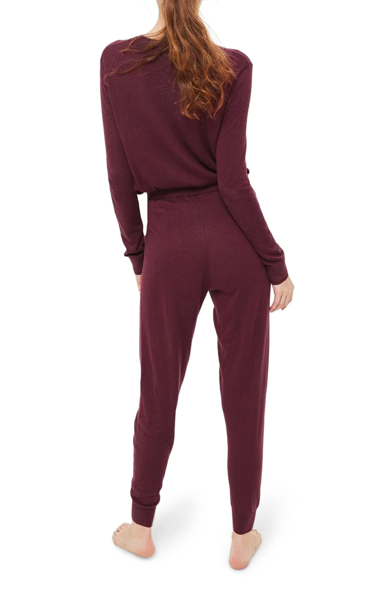 Jogger Lounge Pants,                             Alternate thumbnail 2, color,                             Berry Red