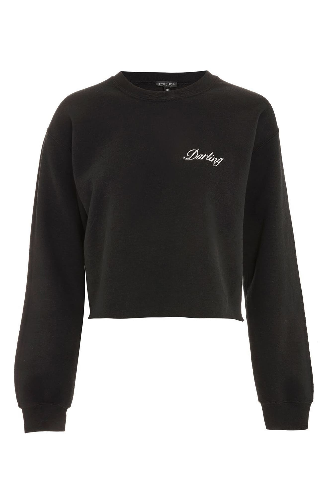 Alternate Image 3  - Topshop Darling Slogan Crop Sweatshirt