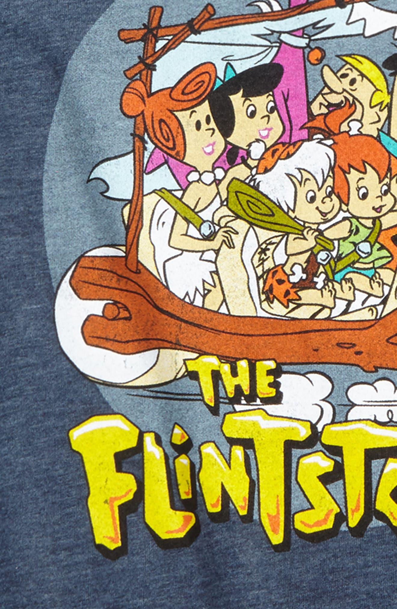 Alternate Image 2  - Jem Flintstones Family Graphic T-Shirt (Big Boys)