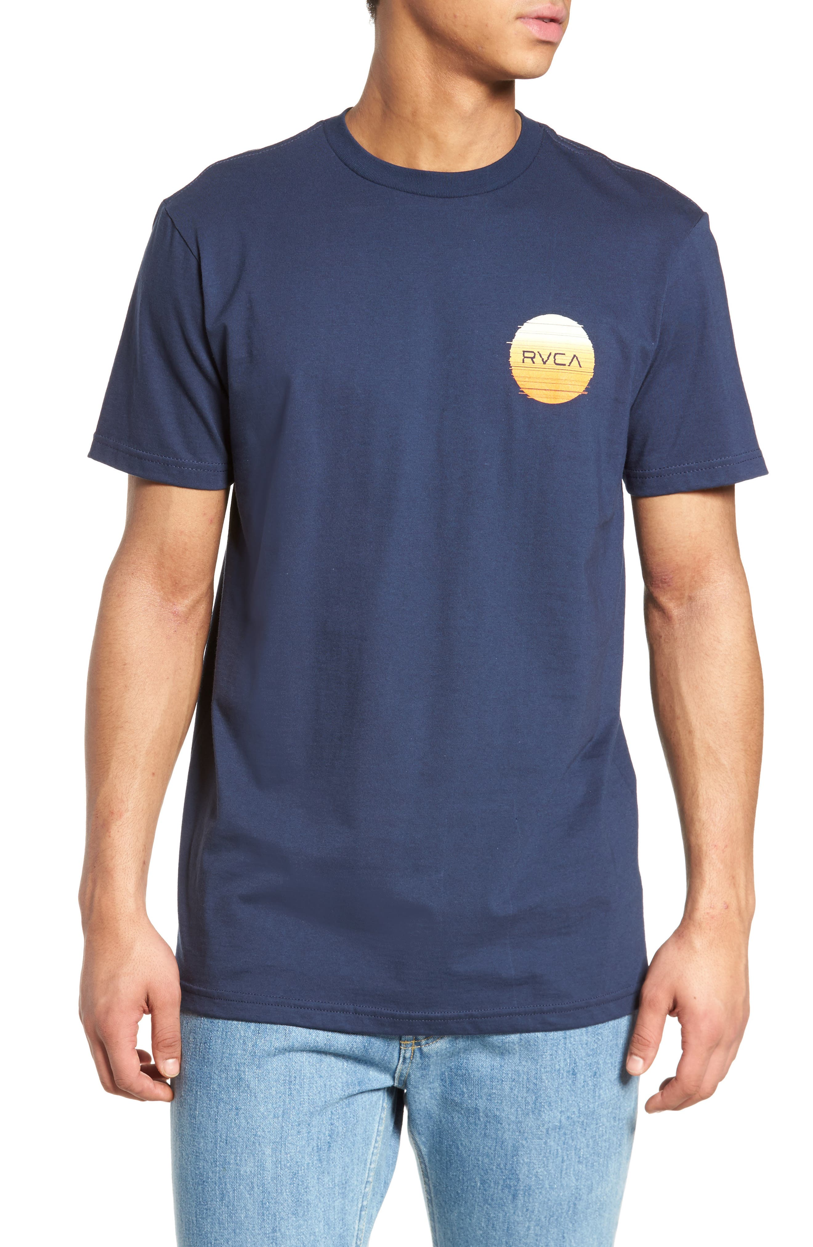 Glitch Motors T-Shirt,                             Main thumbnail 1, color,                             Federal Blue