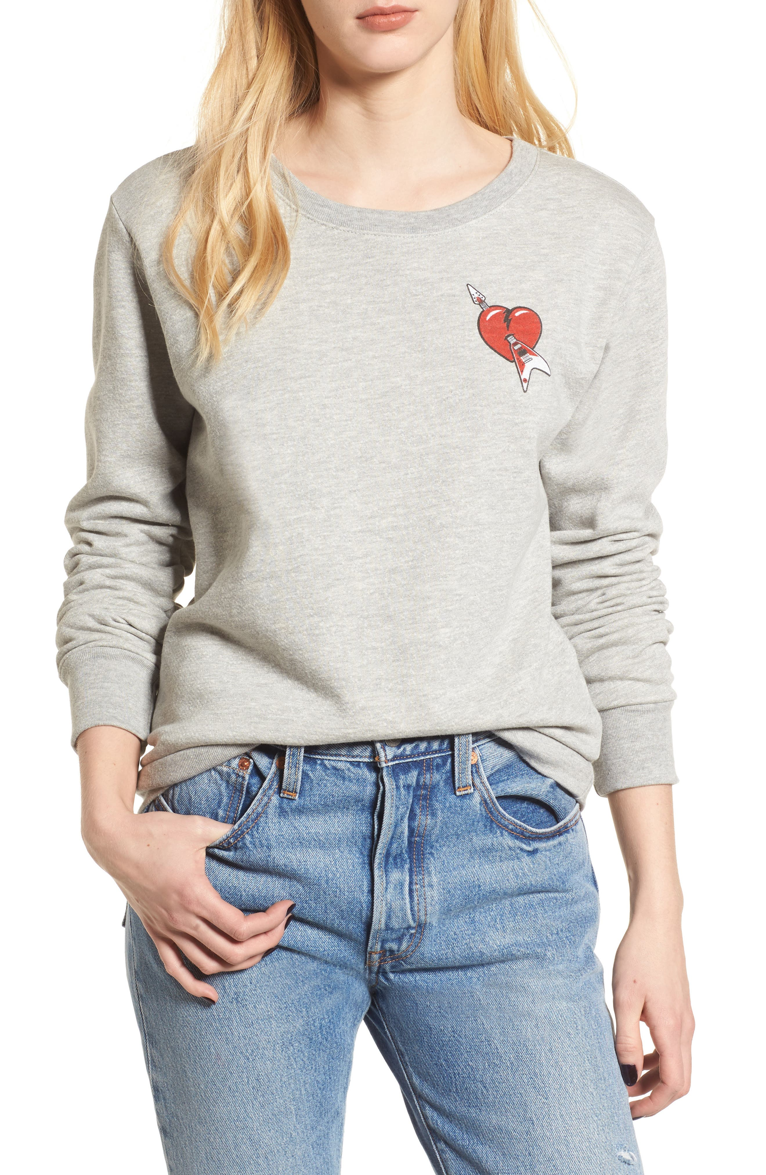 Tom Petty and the Heartbreakers Sweatshirt,                         Main,                         color, Heather Grey