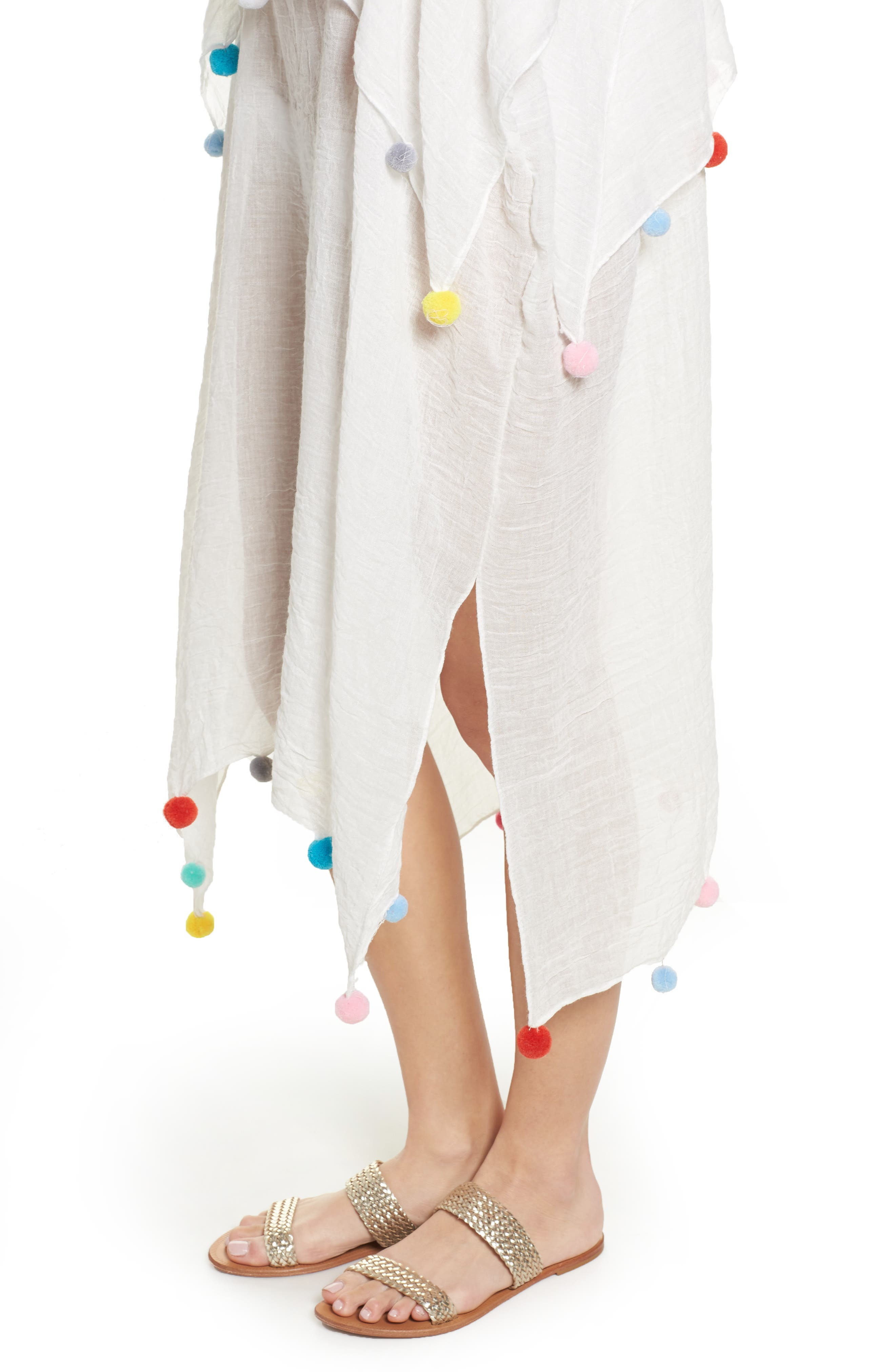Day to Night Cover-Up Dress,                             Alternate thumbnail 4, color,                             White