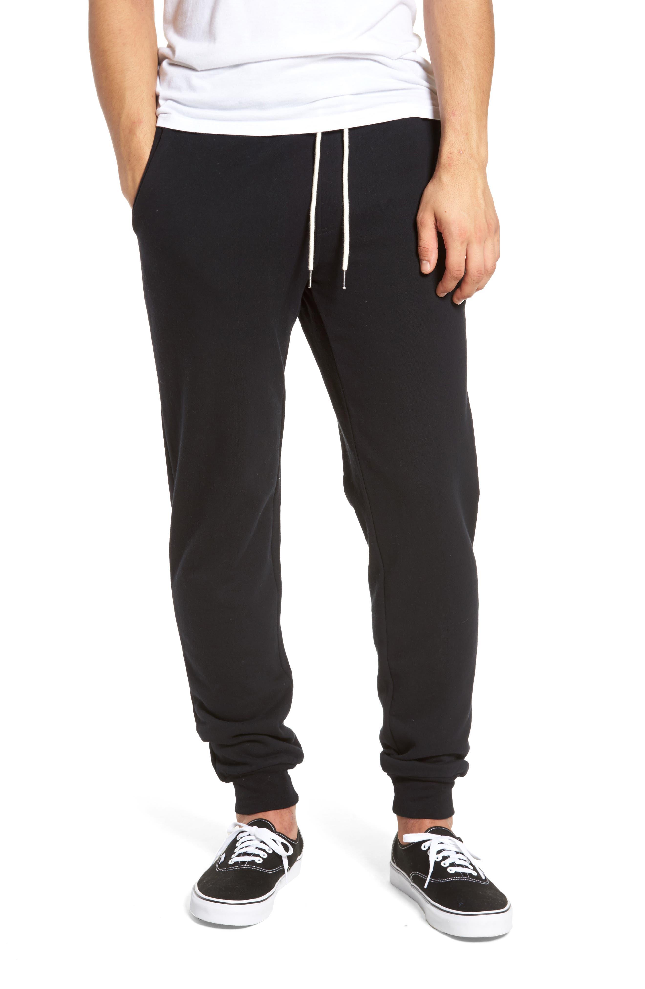 Fleece Jogger Pants,                         Main,                         color, Black Rock