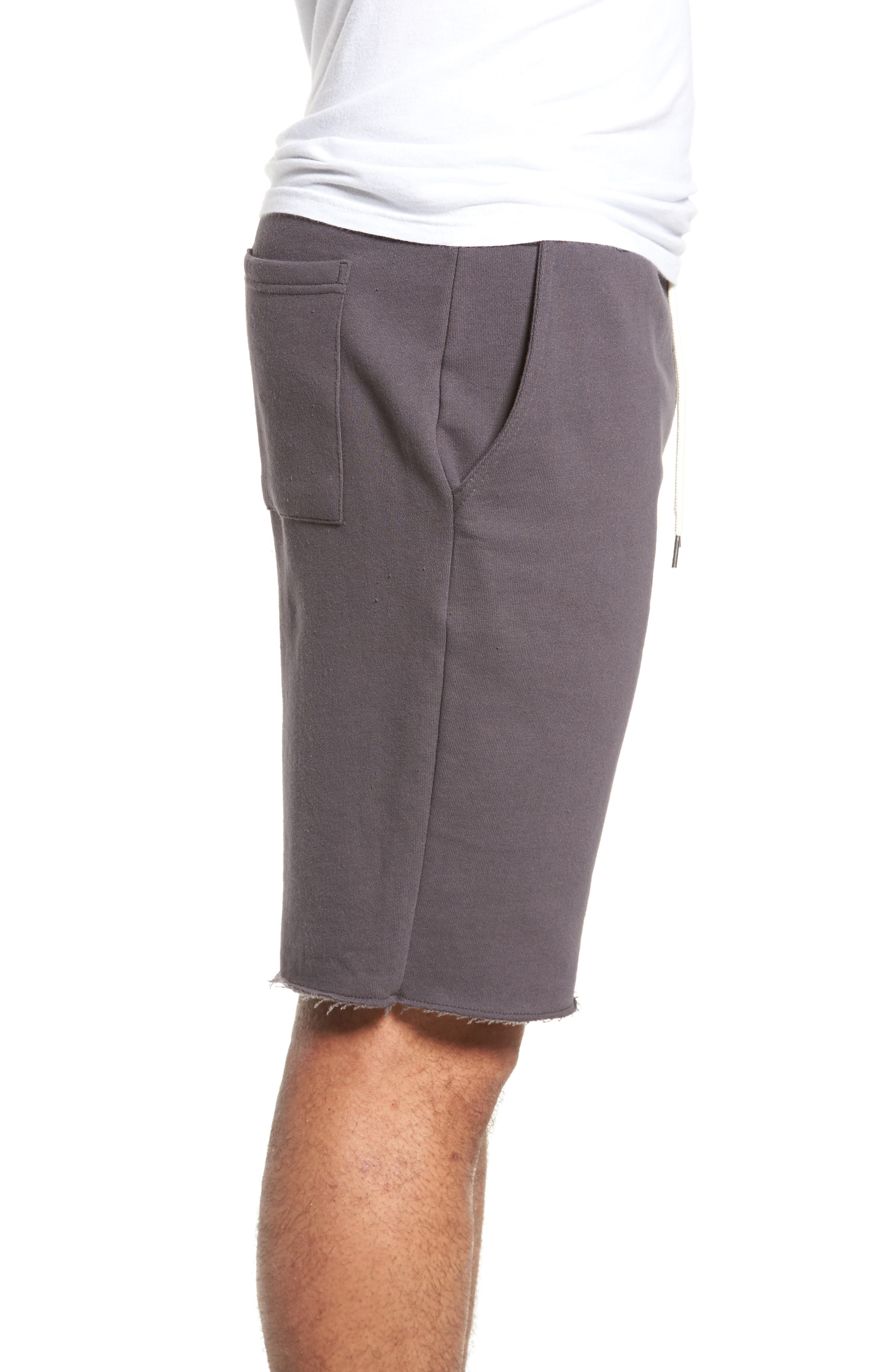 Fleece Shorts,                             Alternate thumbnail 3, color,                             Grey Onyx