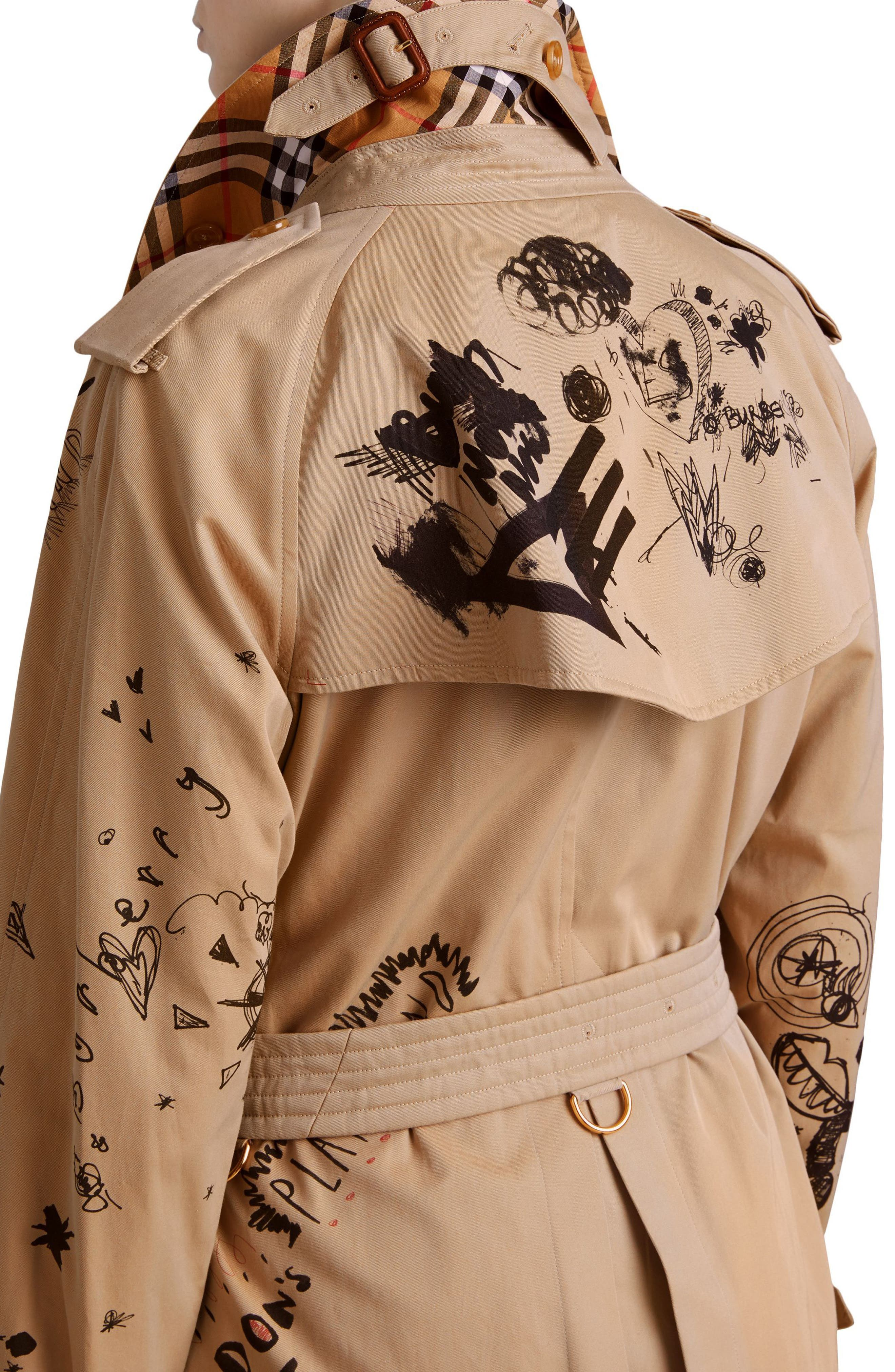 Eastheath Embellished Trench Coat,                             Alternate thumbnail 5, color,                             Honey