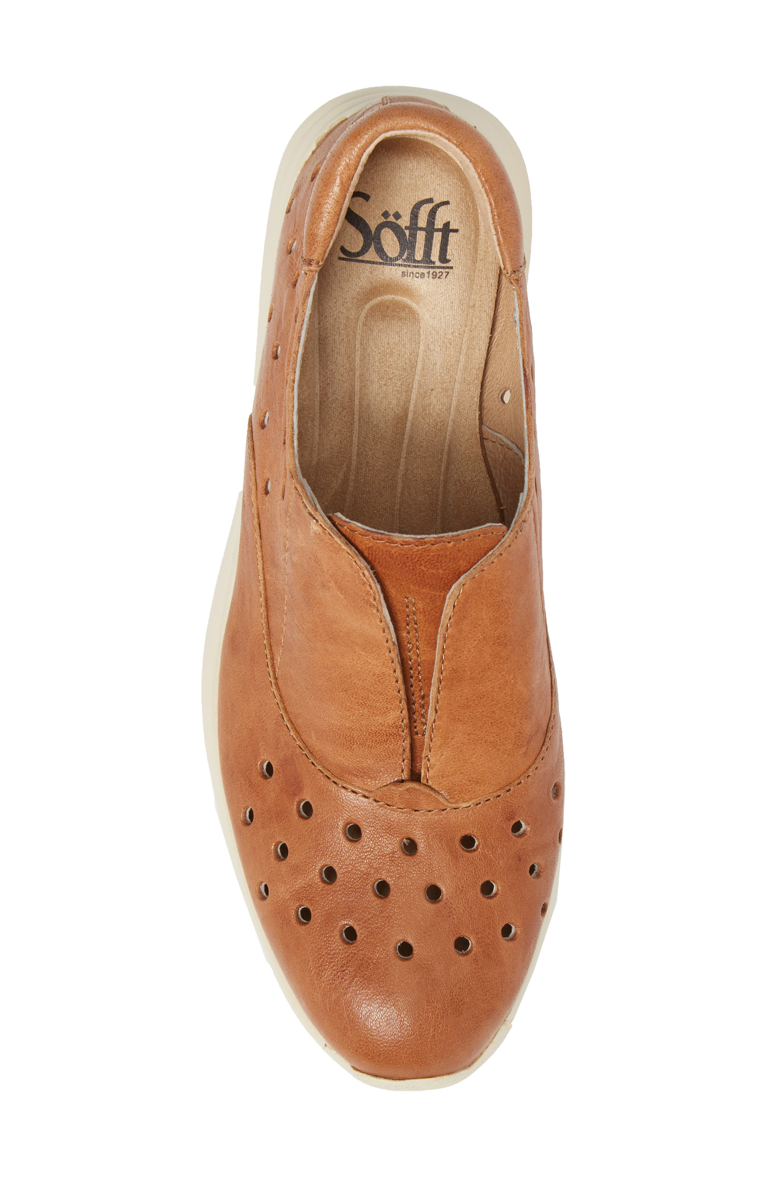 Noreen Slip-On Sneaker,                             Alternate thumbnail 5, color,                             Luggage Leather
