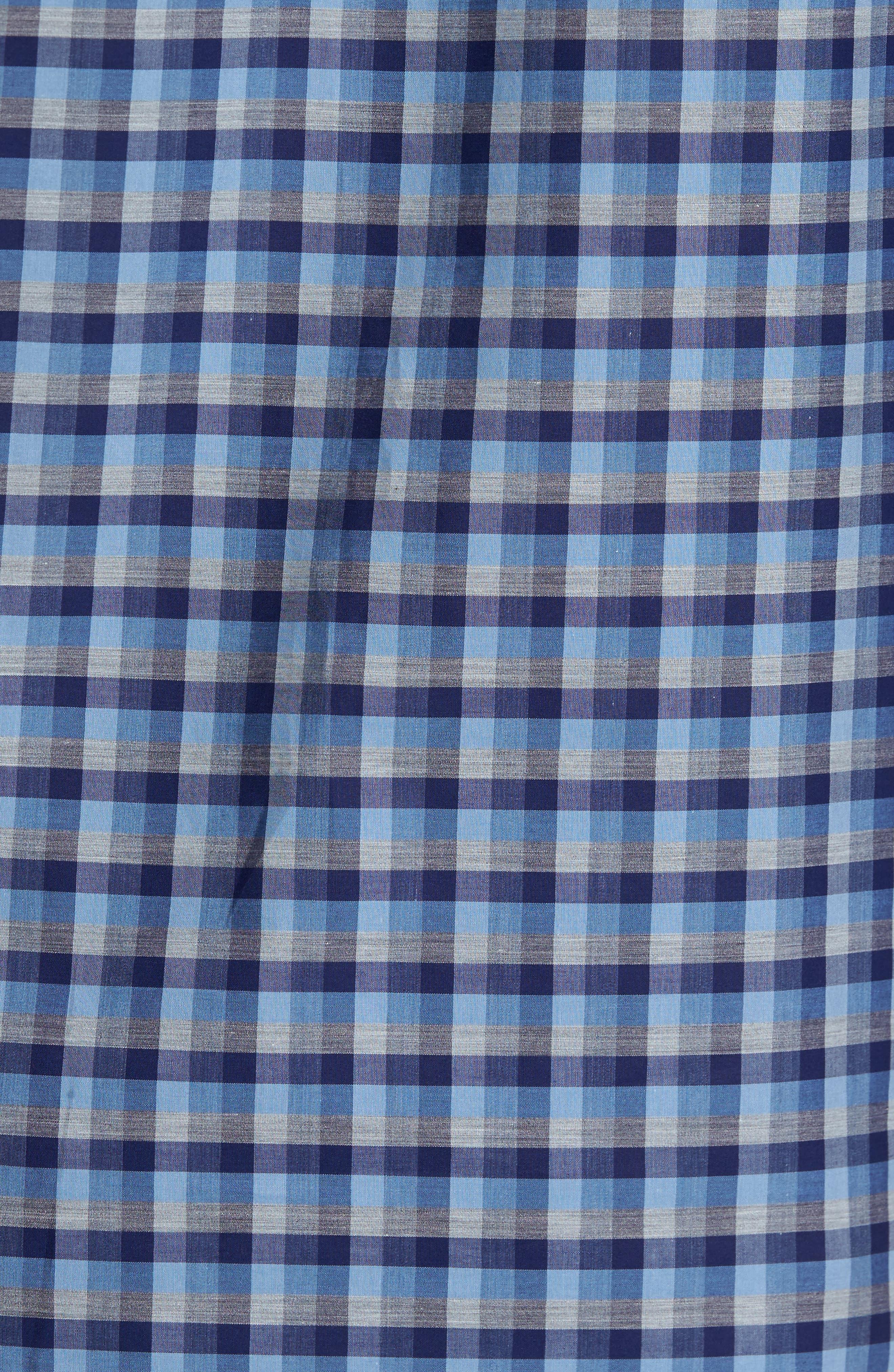 Dane Check Sport Shirt,                             Alternate thumbnail 5, color,                             Light Blue
