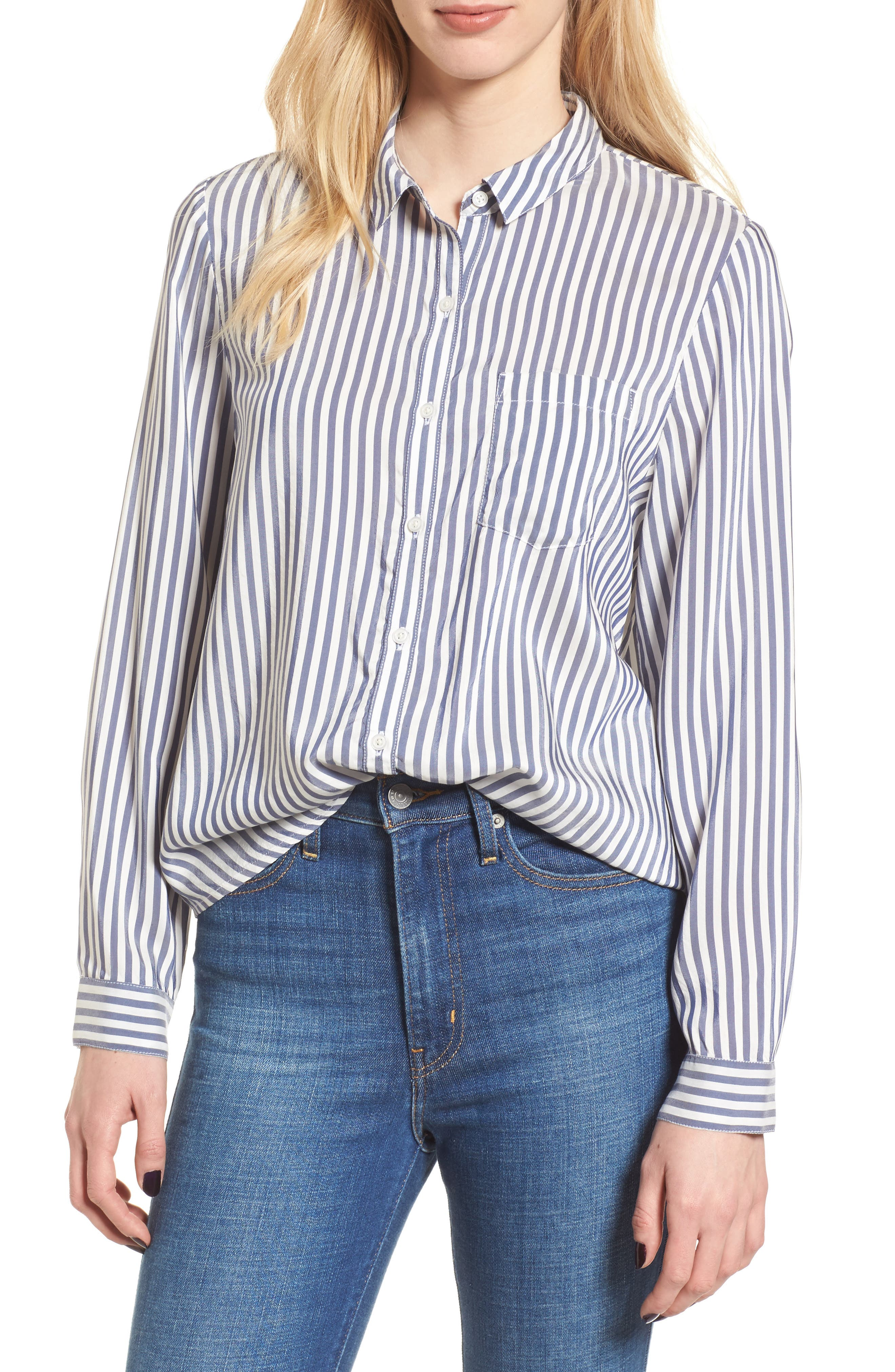 Stripe Shirt,                         Main,                         color, Navy Evening Lucca Stripe