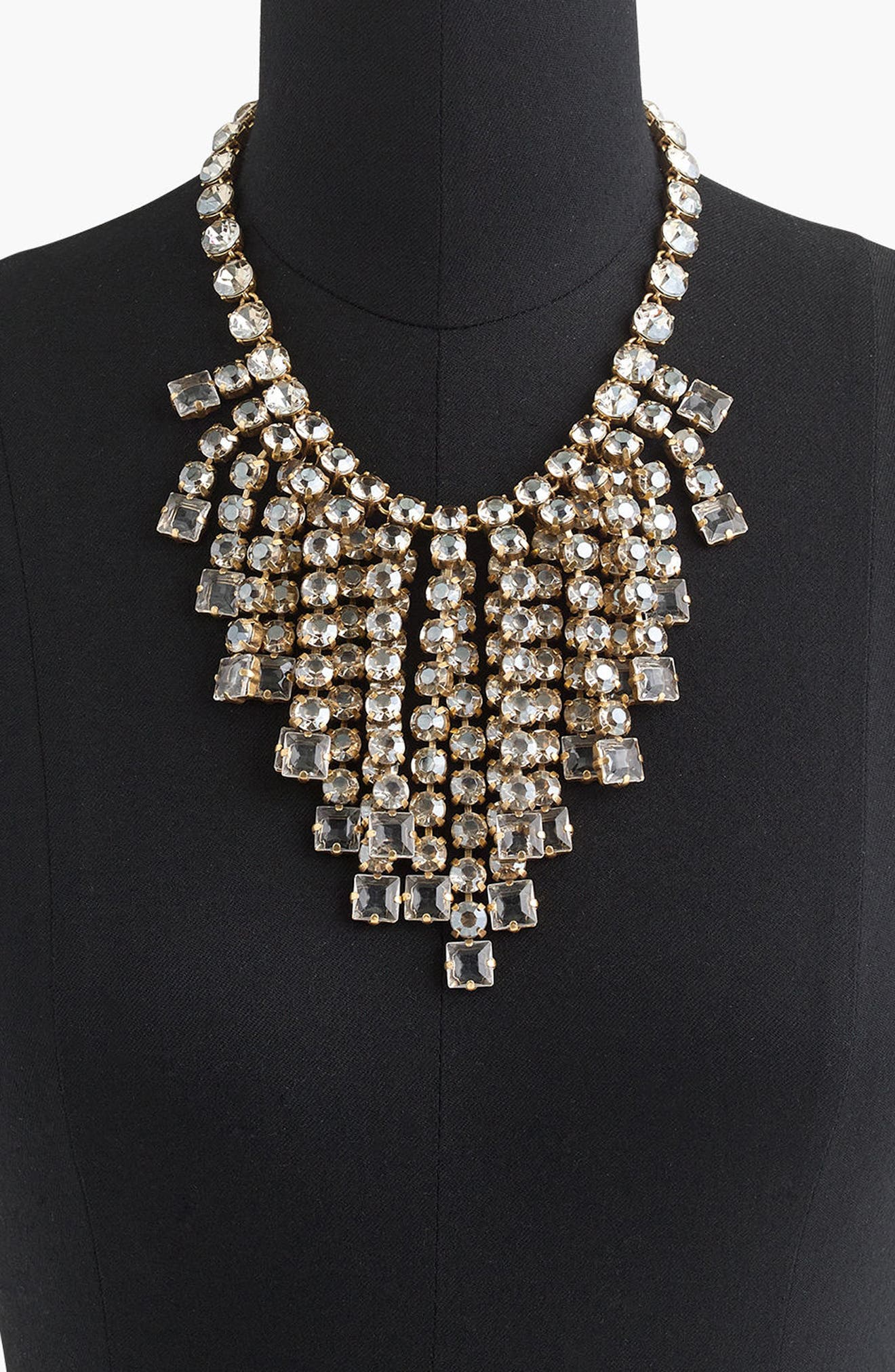 Alternate Image 2  - J.Crew Cascading Crystal Necklace