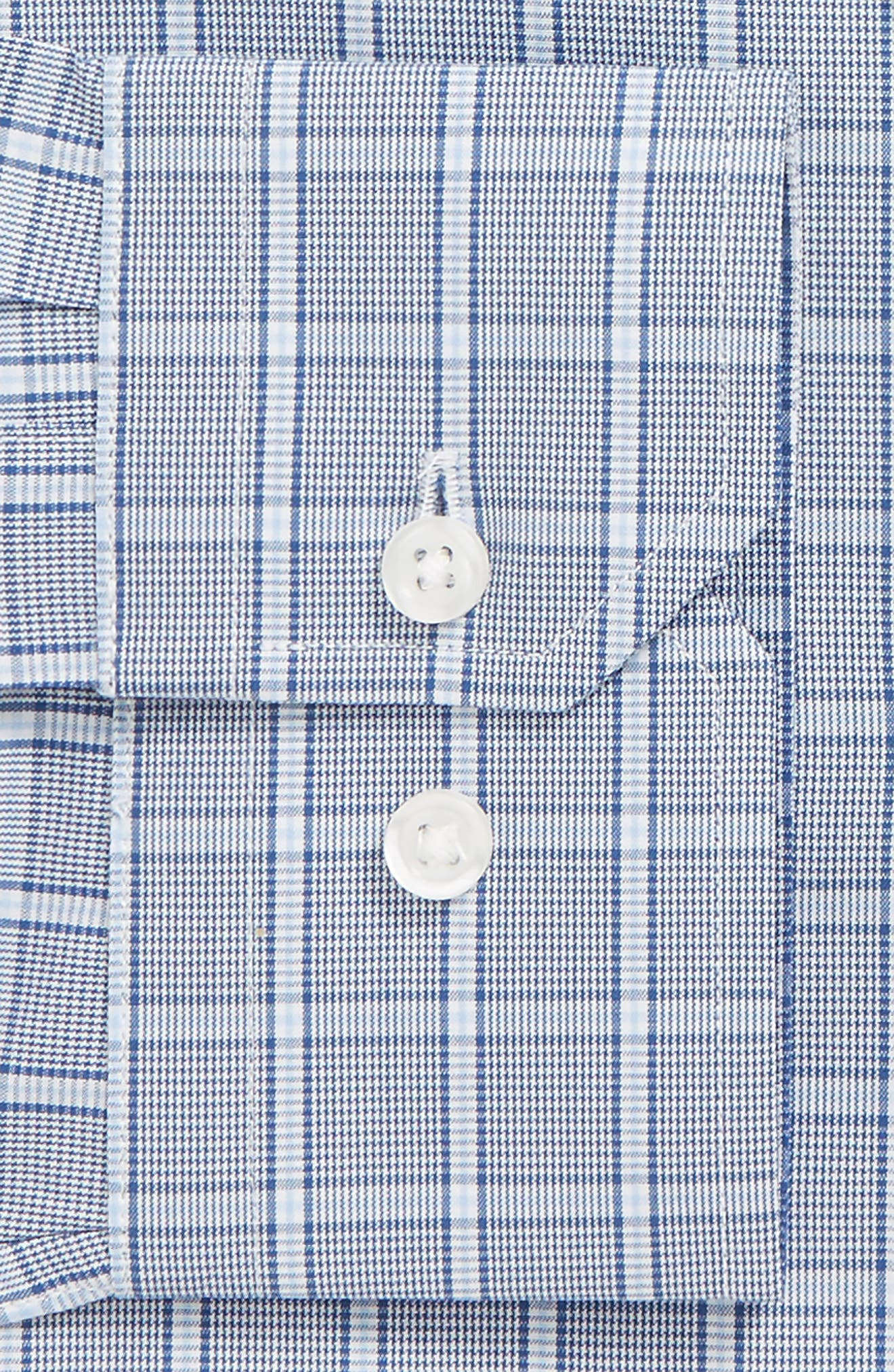Trim Fit Check Dress Shirt,                             Alternate thumbnail 2, color,                             Blue Chinoise