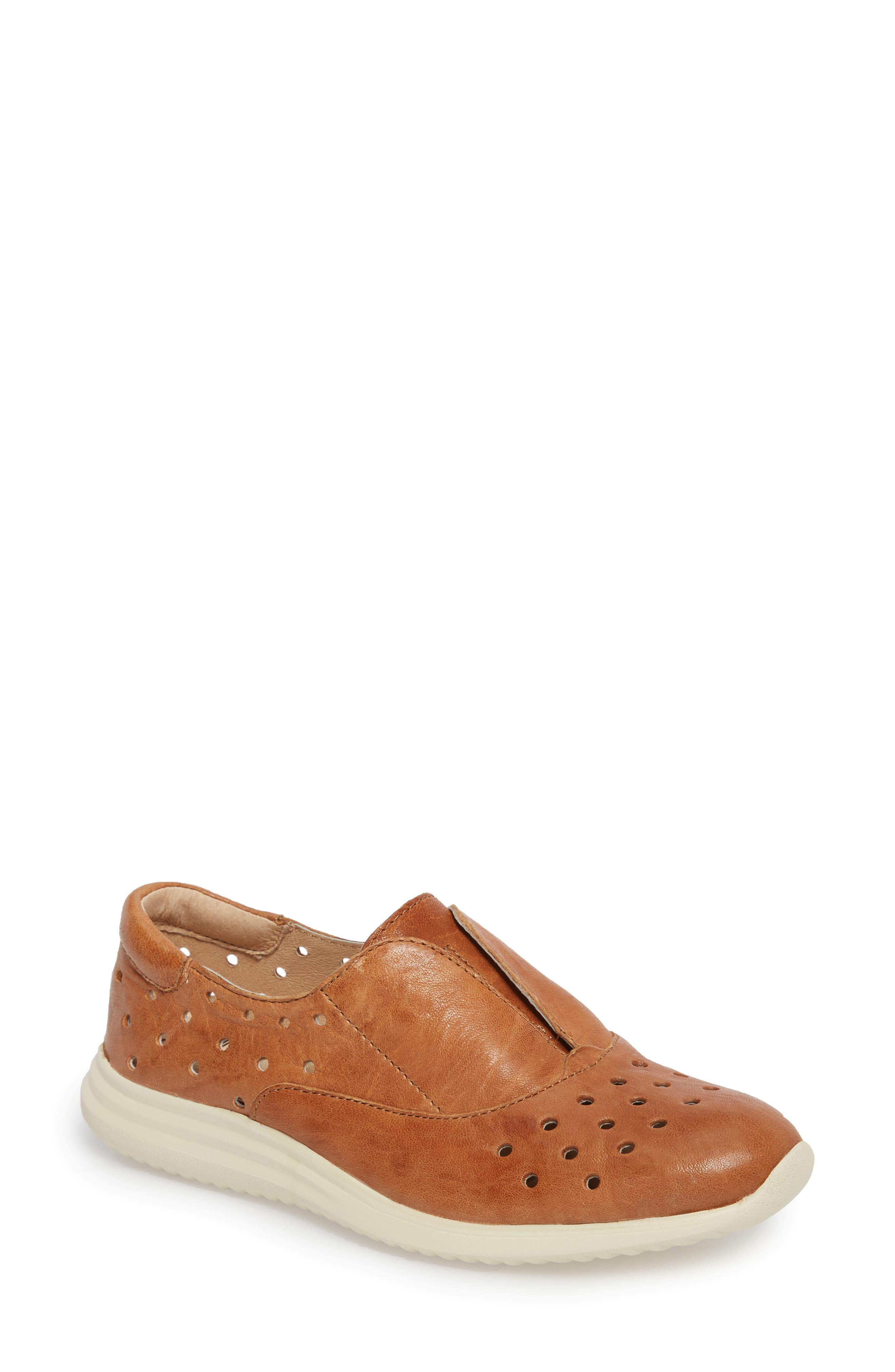 Noreen Slip-On Sneaker,                             Main thumbnail 1, color,                             Luggage Leather