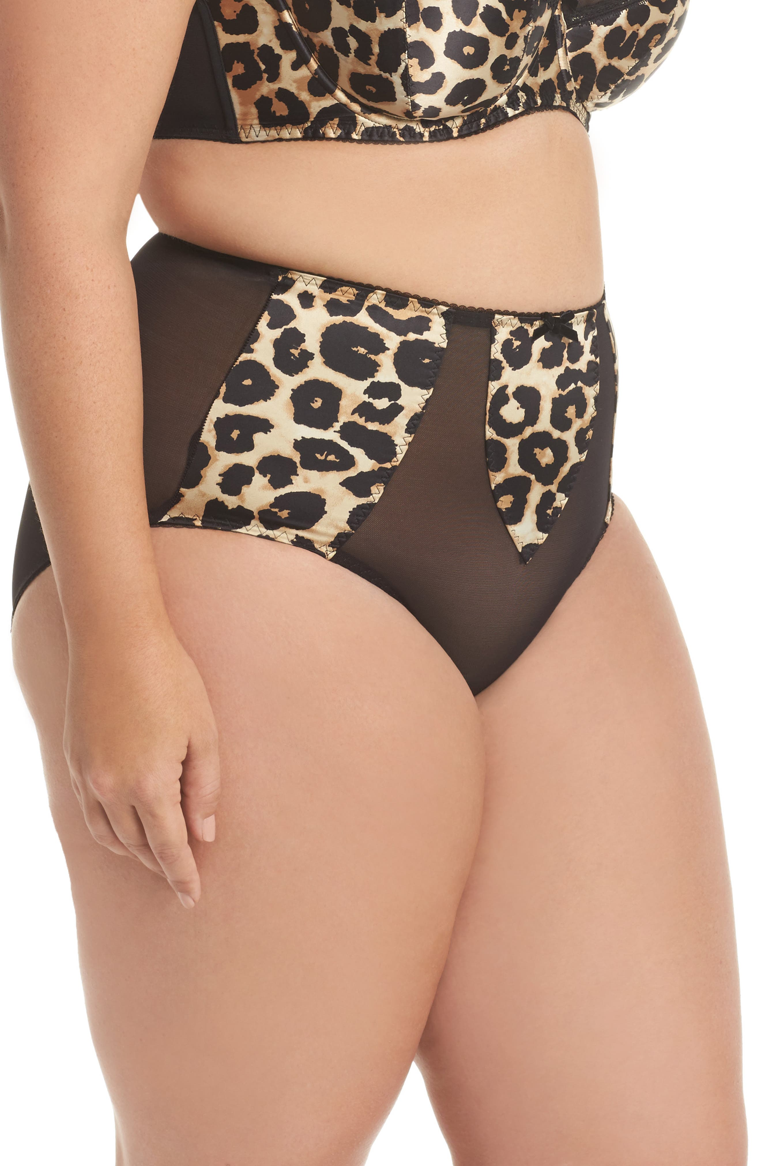 Sheer Witchery - Sophisticat Shaping Briefs,                             Alternate thumbnail 3, color,                             Animal Print