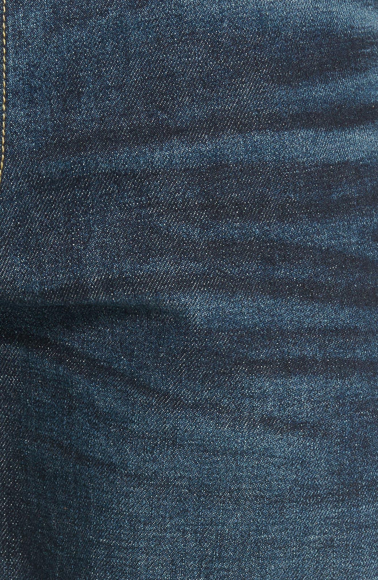 Slim Straight Leg Jeans,                             Alternate thumbnail 5, color,                             Dark Wash