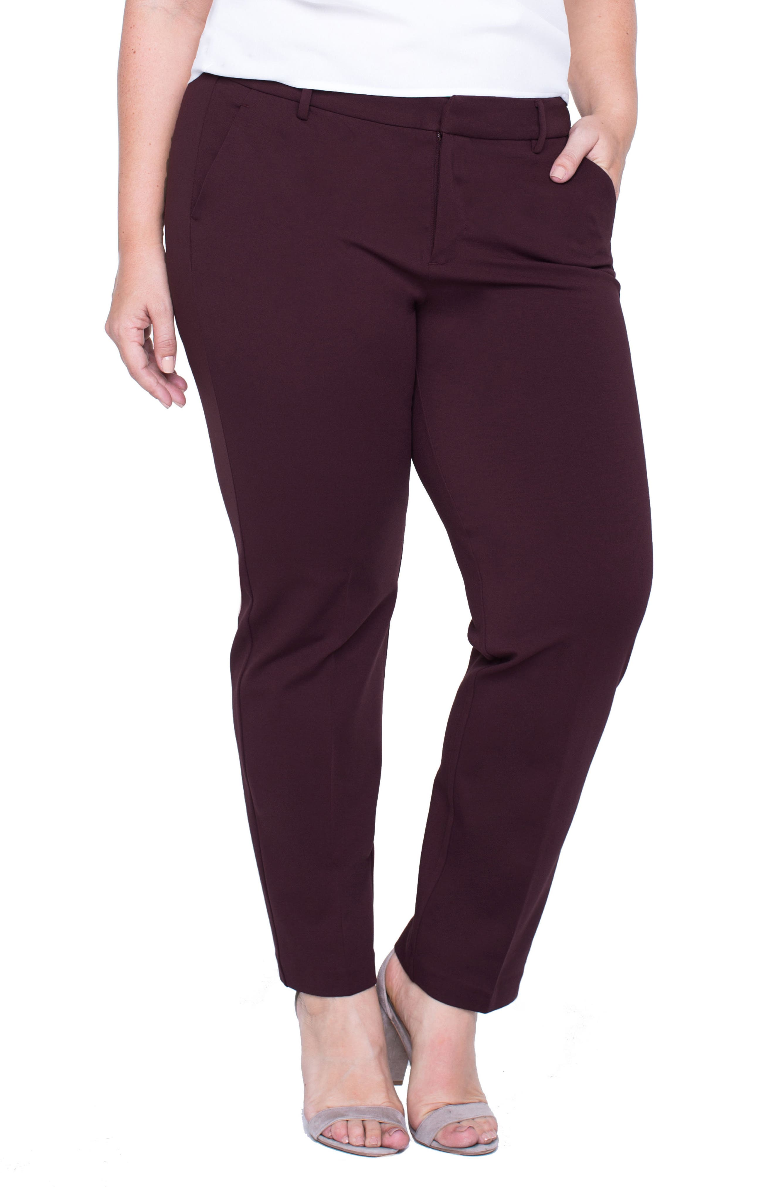 Main Image - Liverpool Jeans Company Kelsey Ponte Knit Trousers (Plus Size)