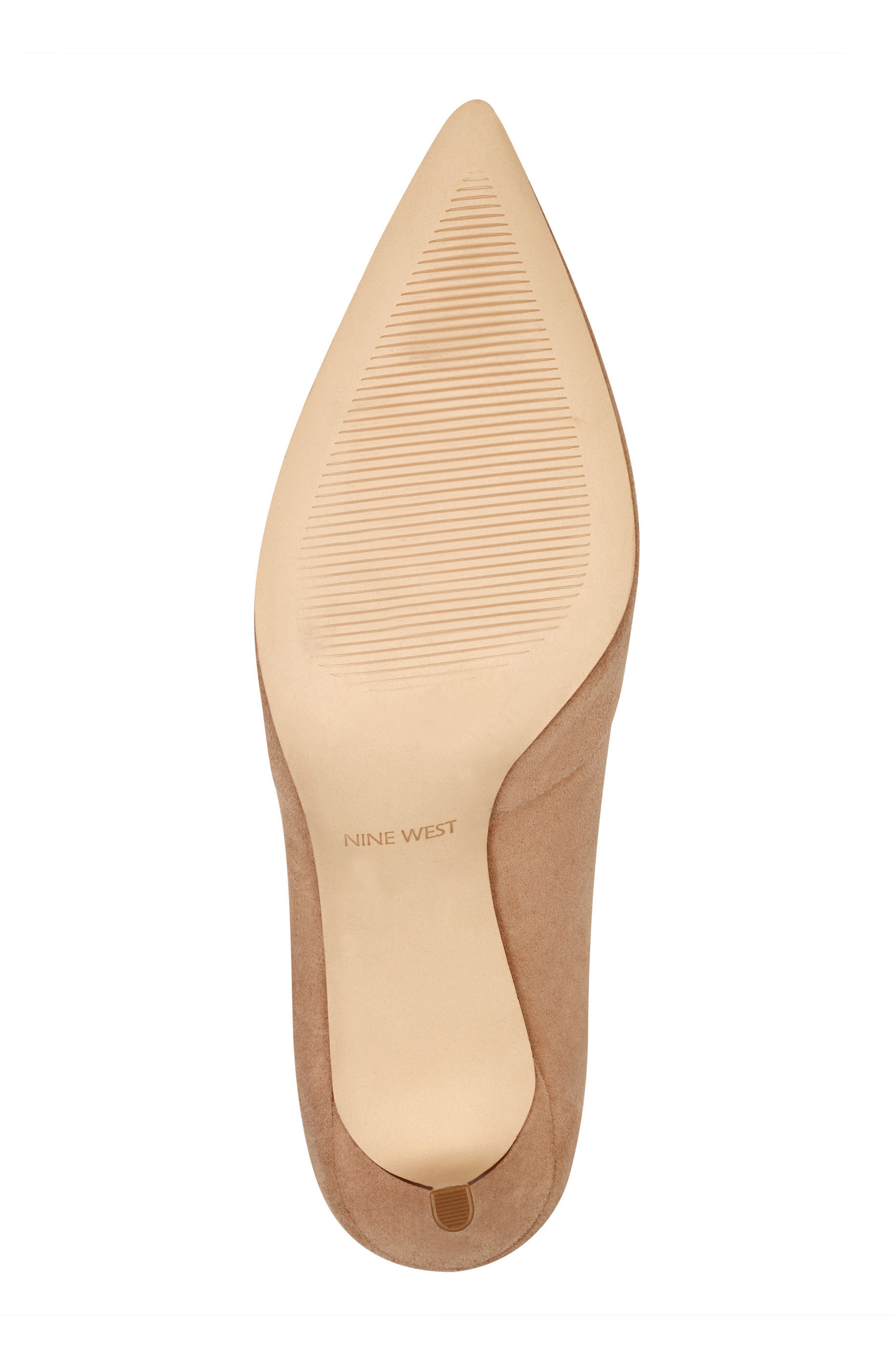 Mine Pointy Toe Pump,                             Alternate thumbnail 6, color,                             Light Natural Suede