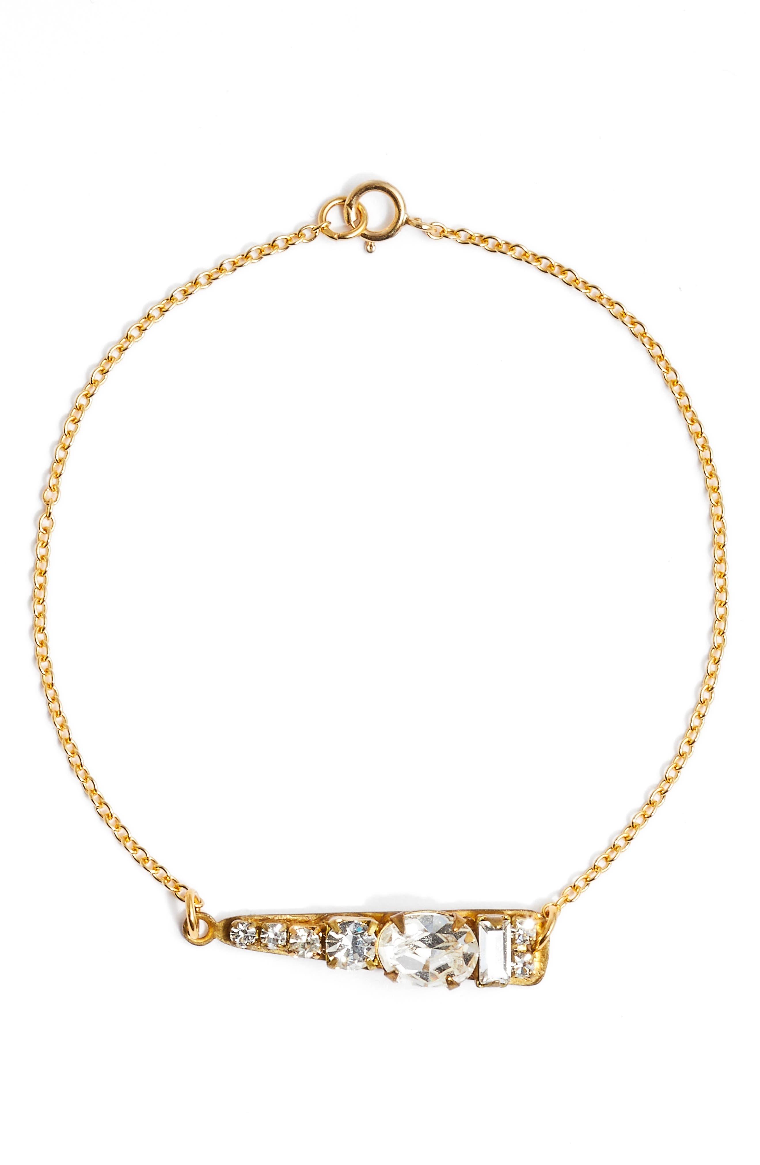 Alternate Image 1 Selected - Sandy Hyun Mixed Crystal Bracelet