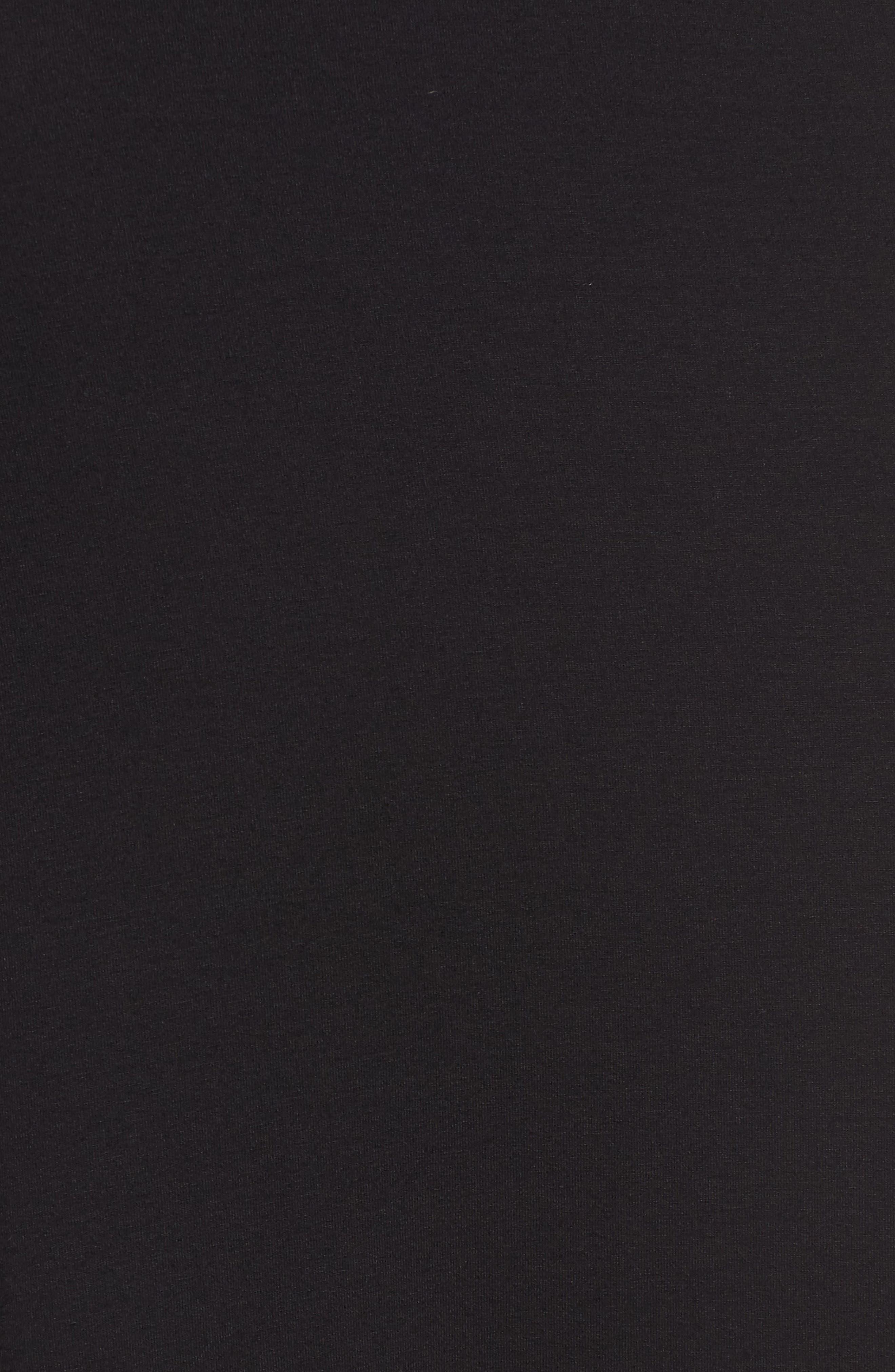 Flared Knit Skirt,                             Alternate thumbnail 5, color,                             Black