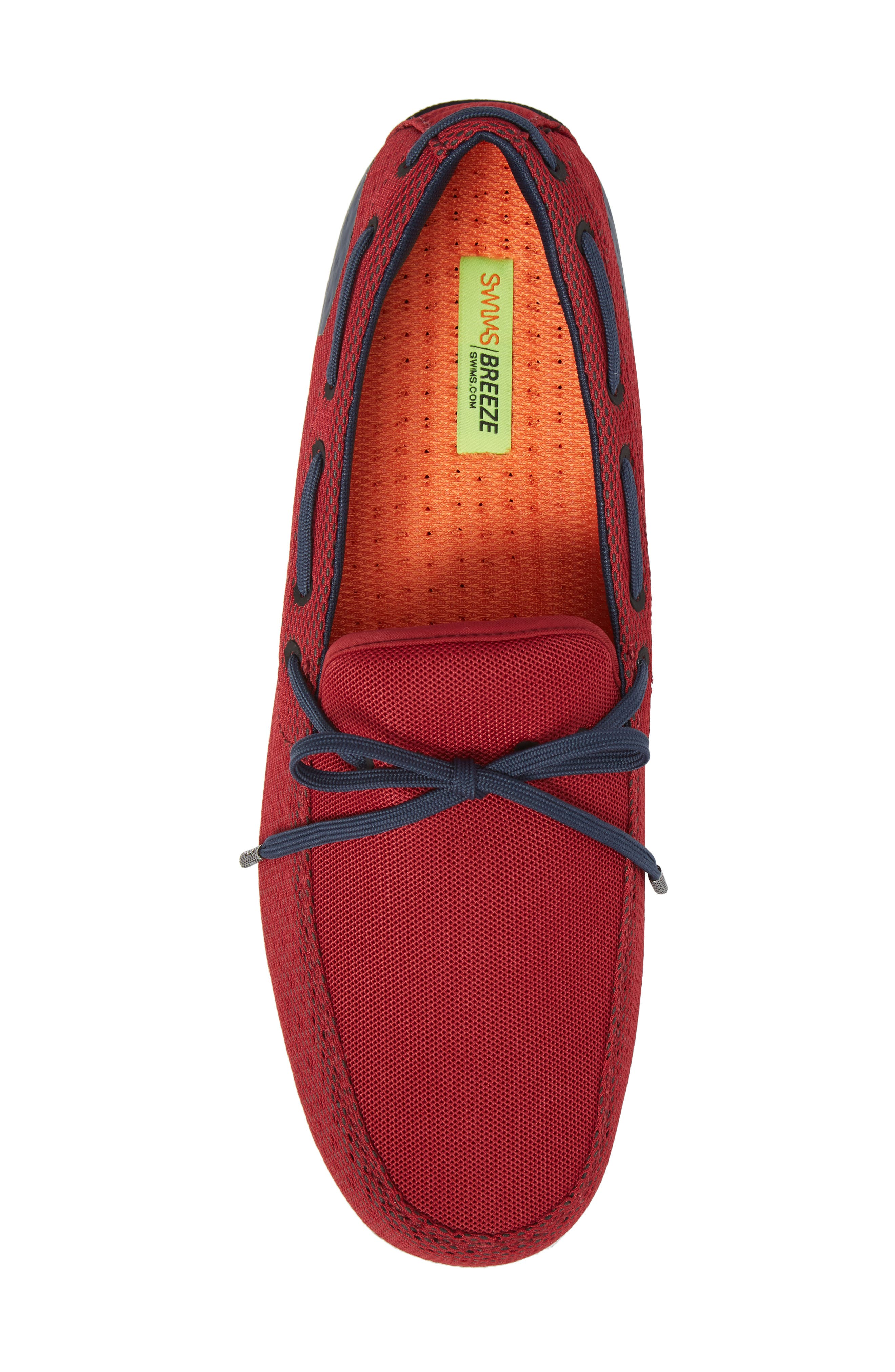 Breeze Loafer,                             Alternate thumbnail 3, color,                             Deep Red/ Navy/ White