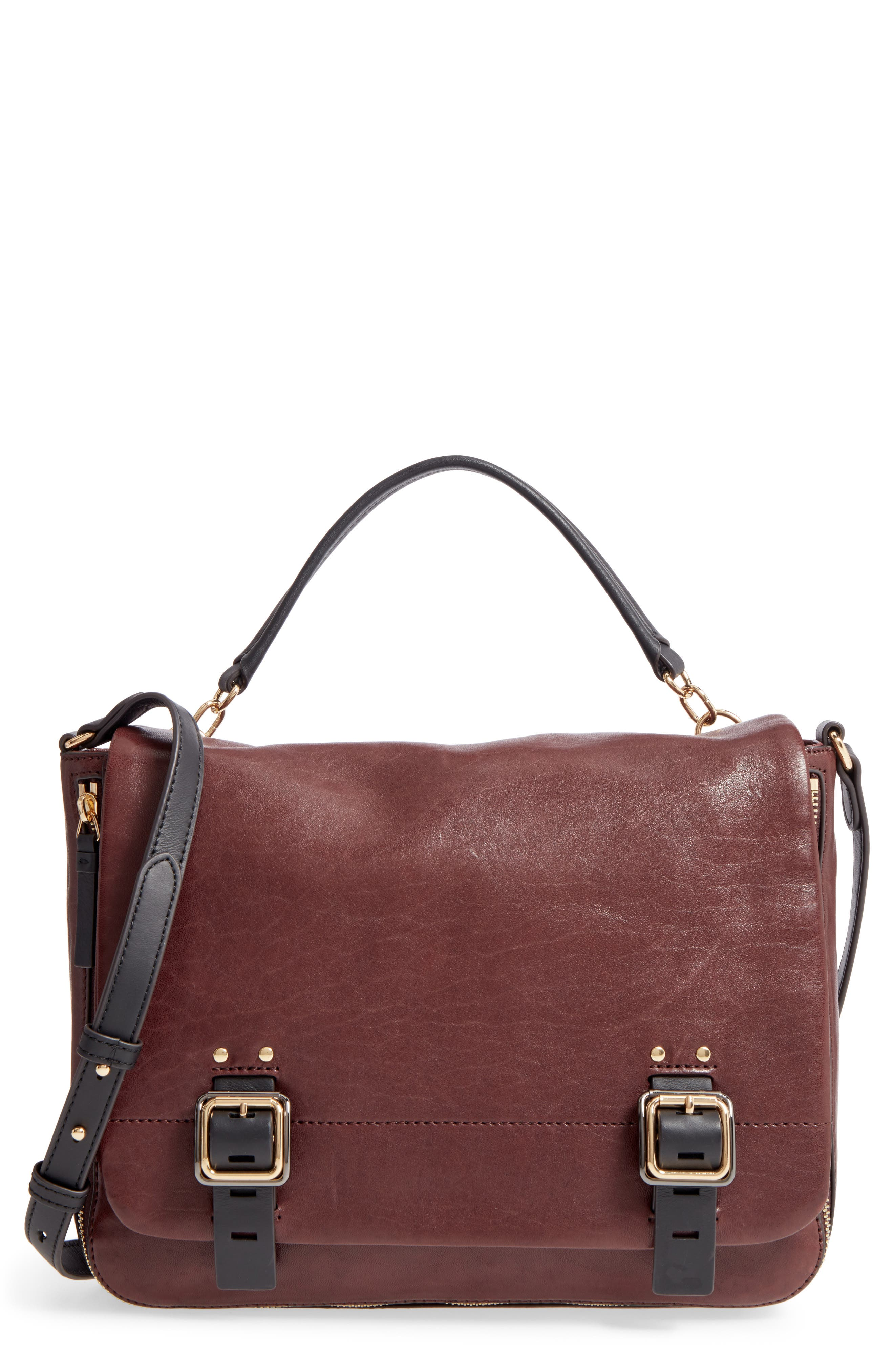 Main Image - Vince Camuto Delos Leather Messenger Bag (Nordstrom Exclusive)